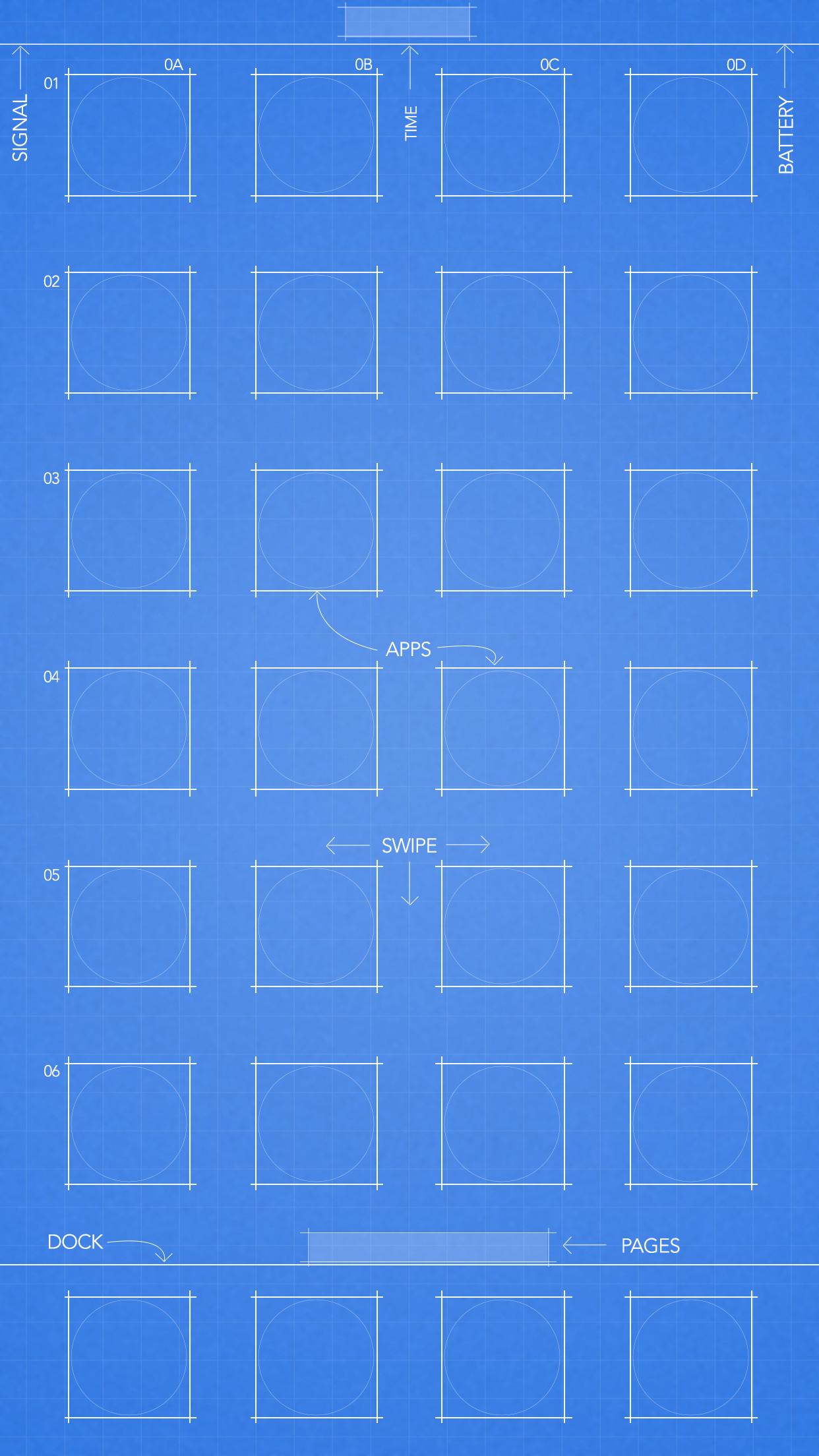 Light Blue blueprint wallpaper 5.5-inch