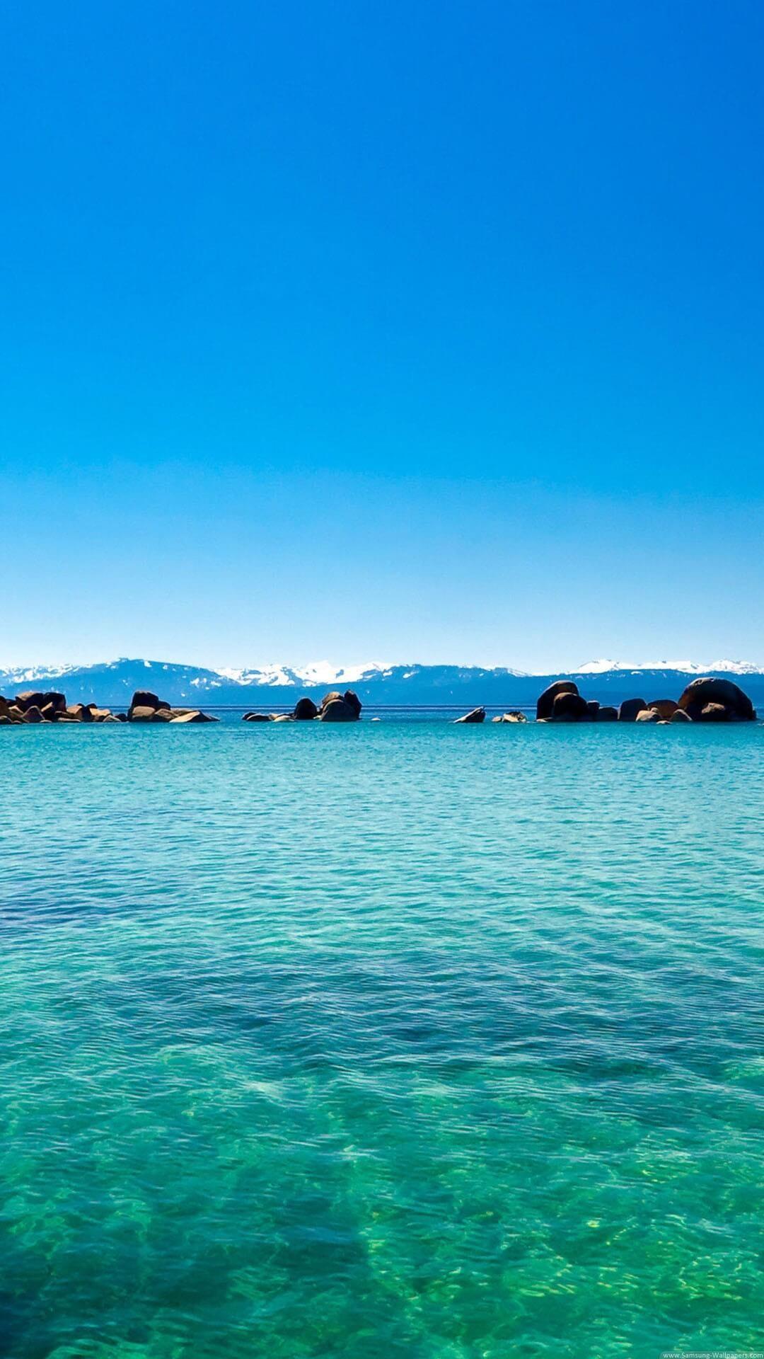 How to download HD Blue ocean iPhone Wallpaper:-
