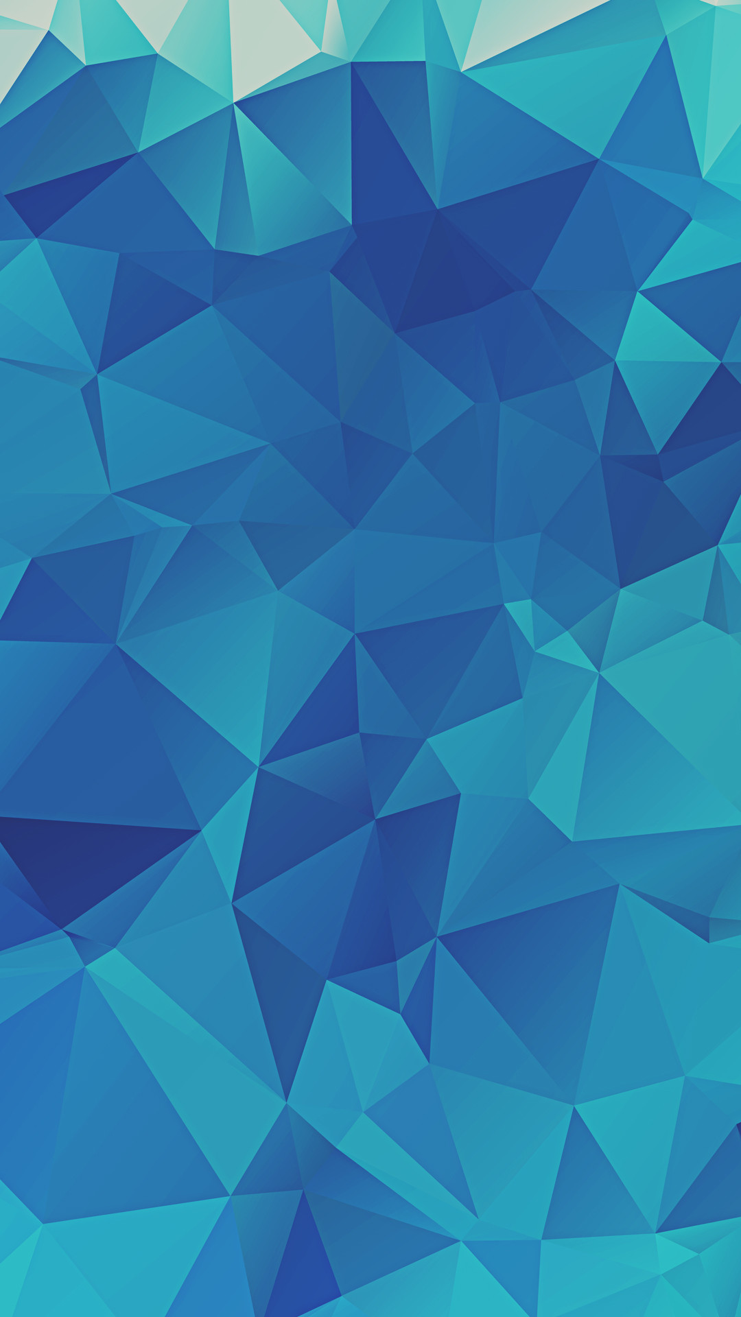 Low Poly Blue Triangles iPhone 6+ HD Wallpaper