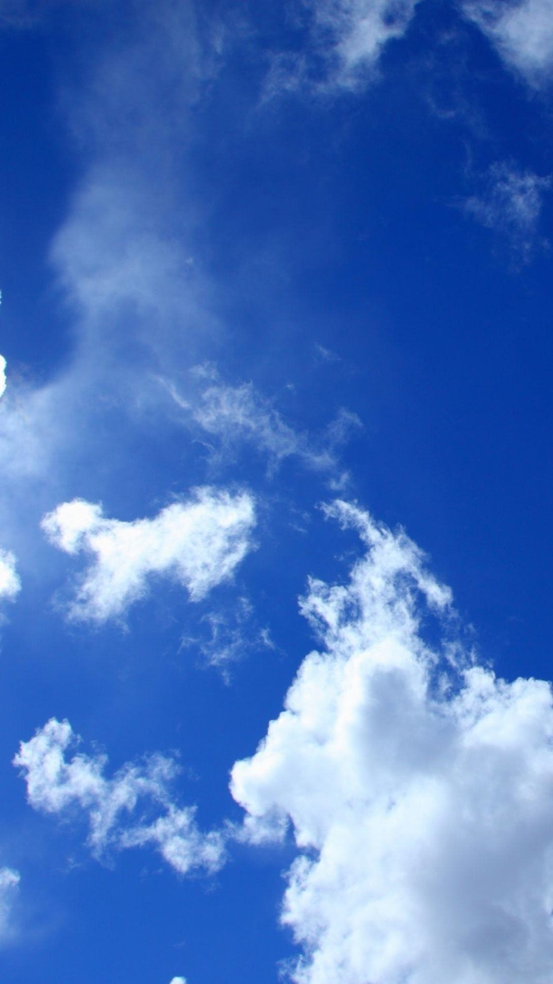 Blue Sky White Clouds Lockscreen iPhone 6 Plus HD Wallpaper …