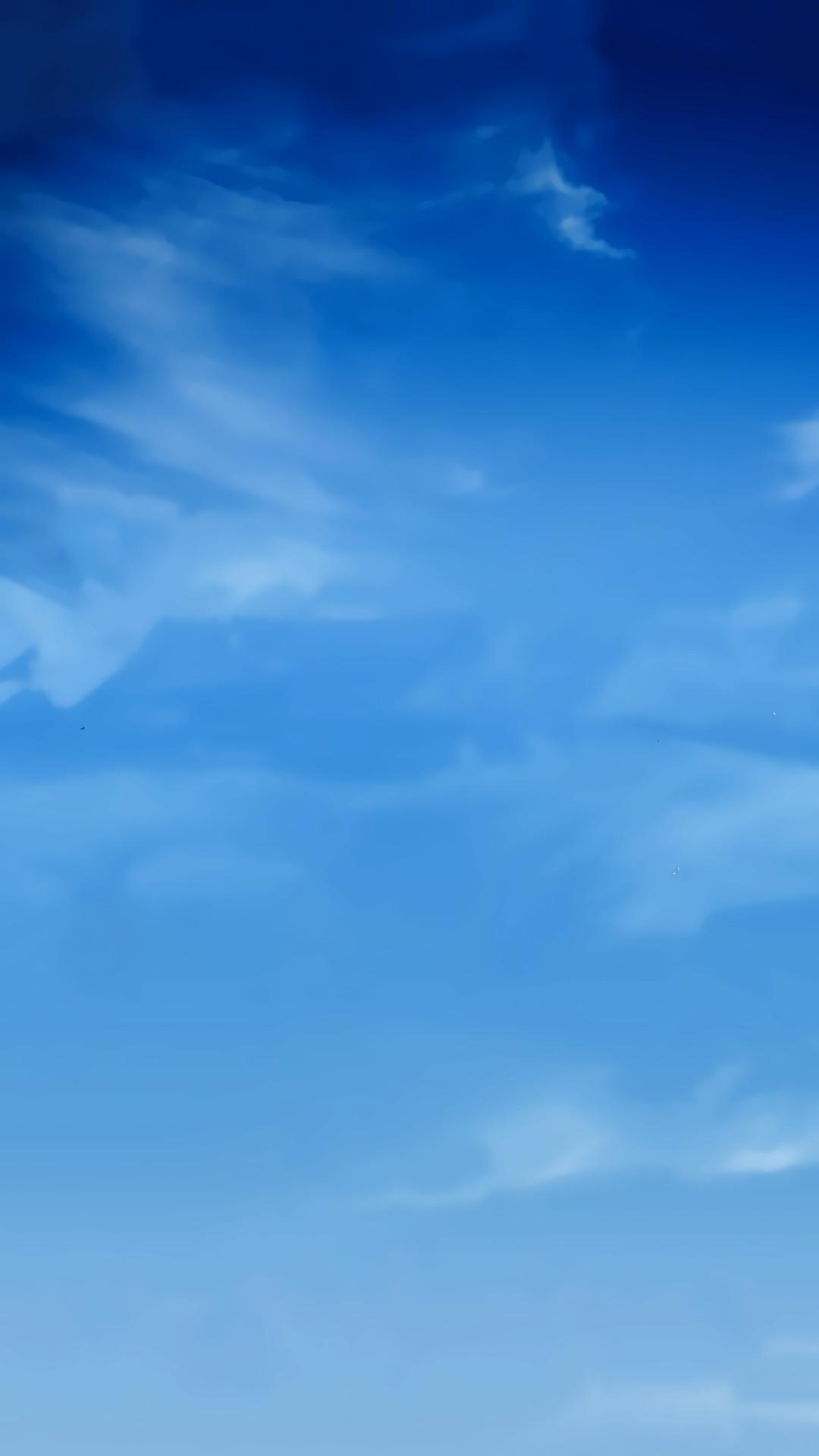 Blue Sky Smudge Clouds iPhone 6 Plus HD Wallpaper …