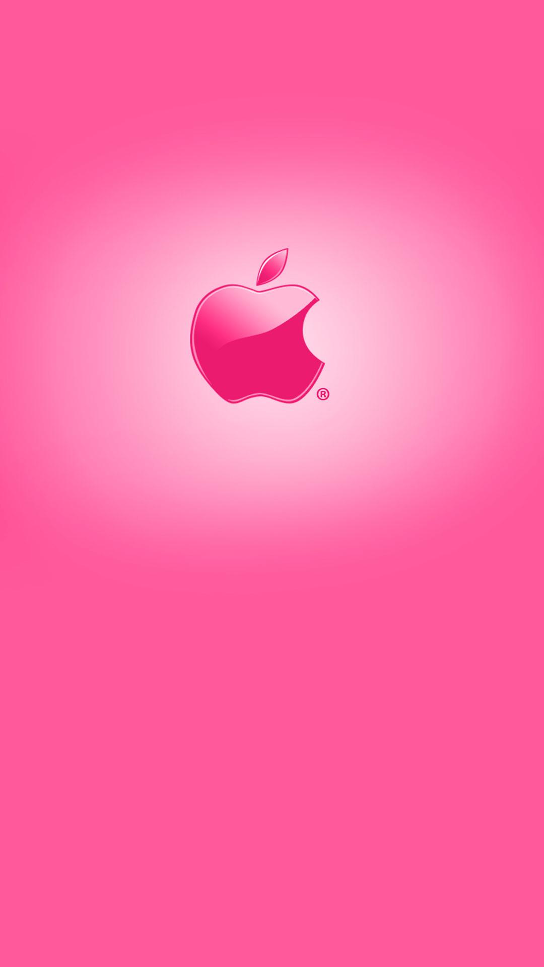 Cute pink Apple