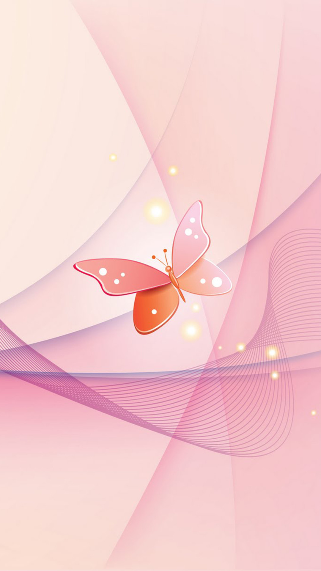 Pink Butterfly iPhone wallpaper