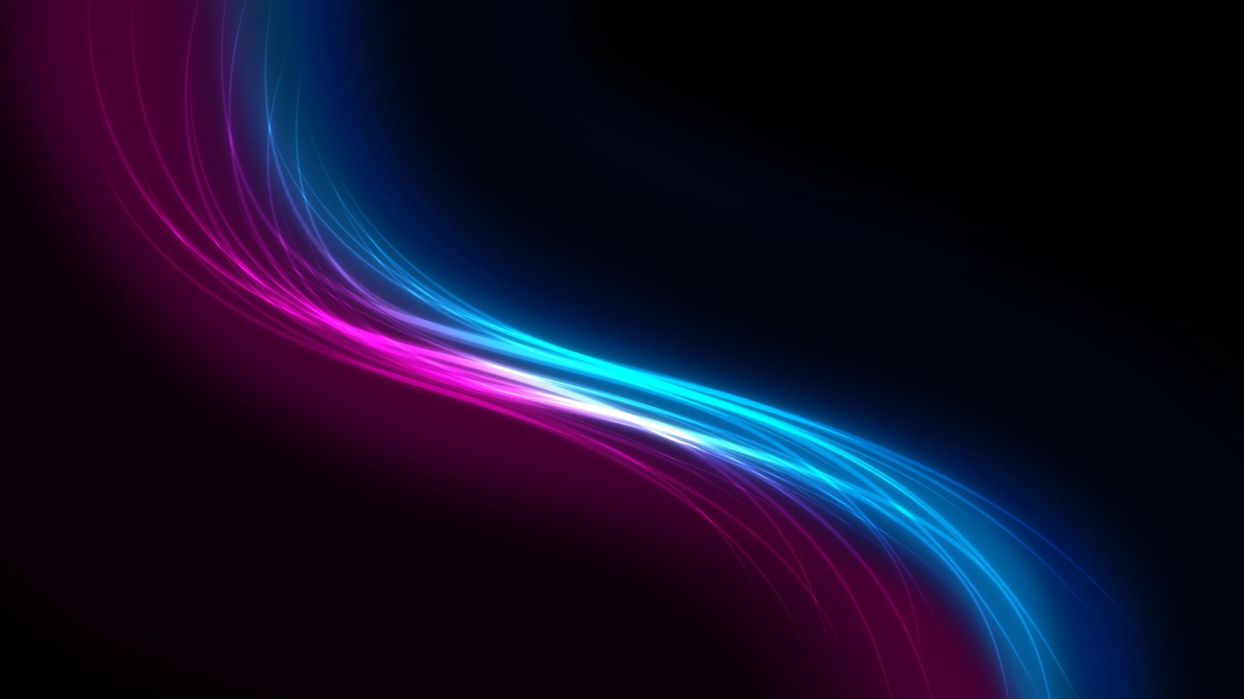 Siluet black pink and blue light abstract | HD Wallpapers