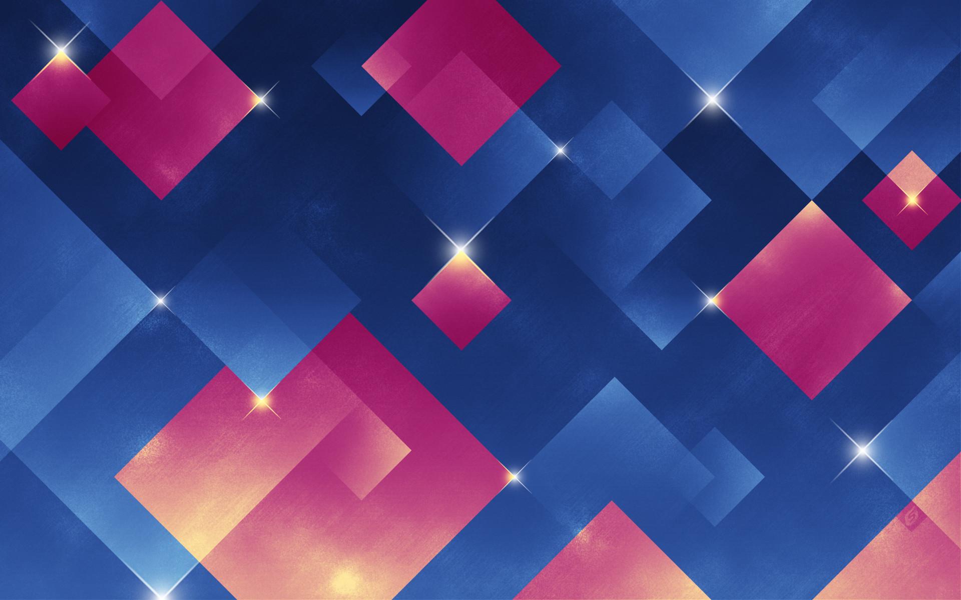 Blue and Pink Diamonds Wallpaper