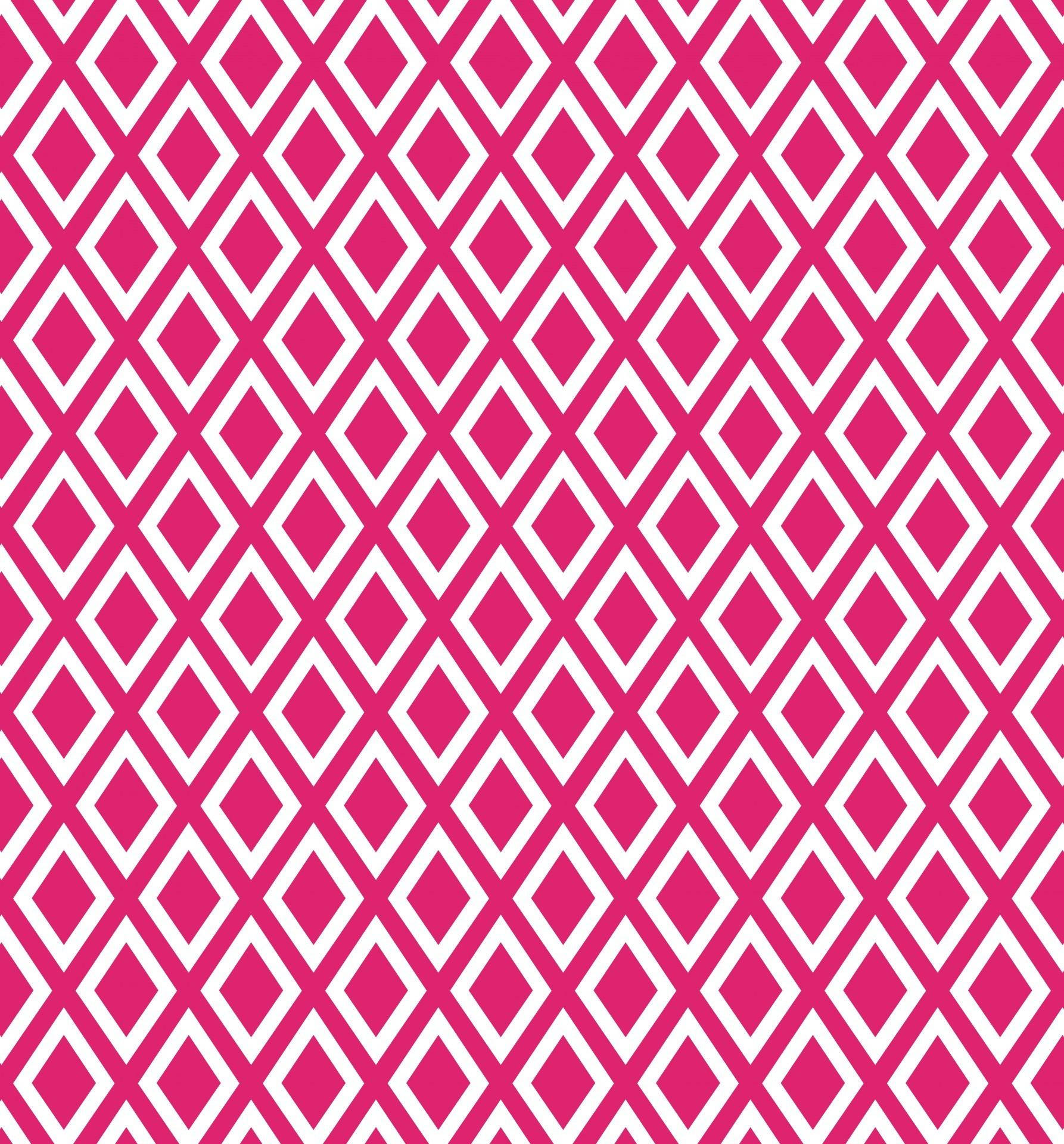 Diamonds Pink White Background