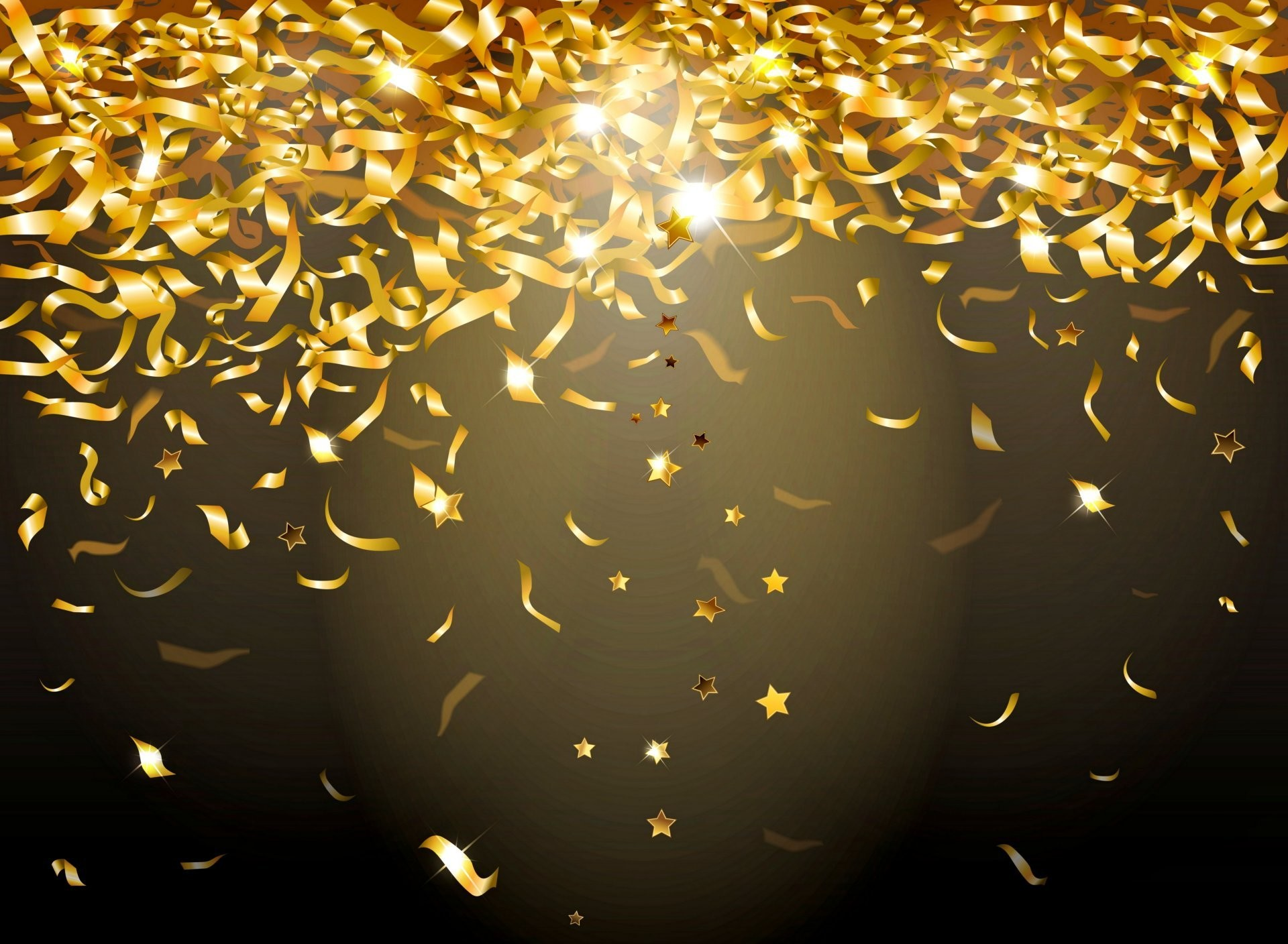 golden confetti sparkle glow glitter background gold confetti sequins lights