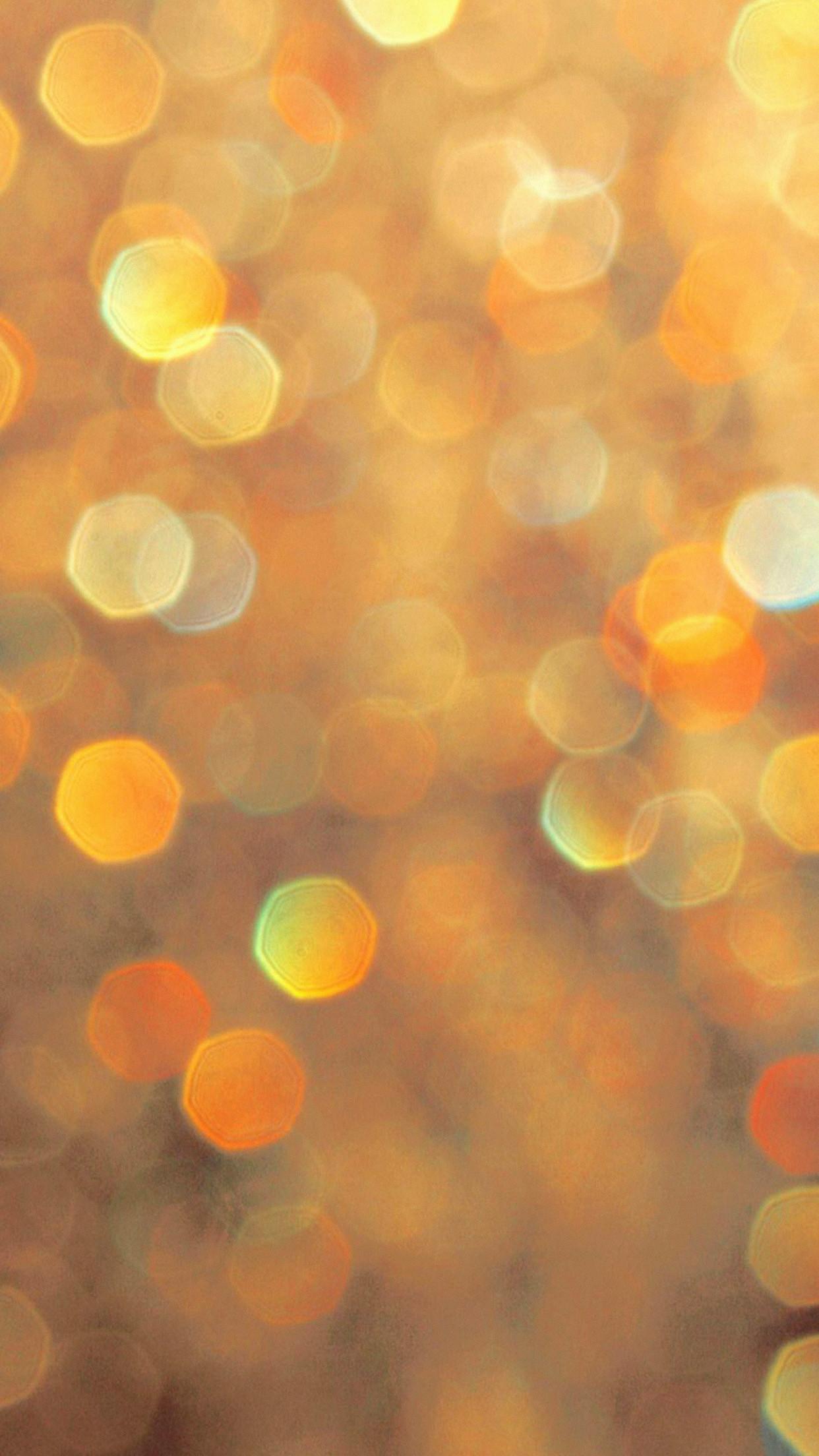 Gold Orange Bokeh Lights Sparkles Android Wallpaper …