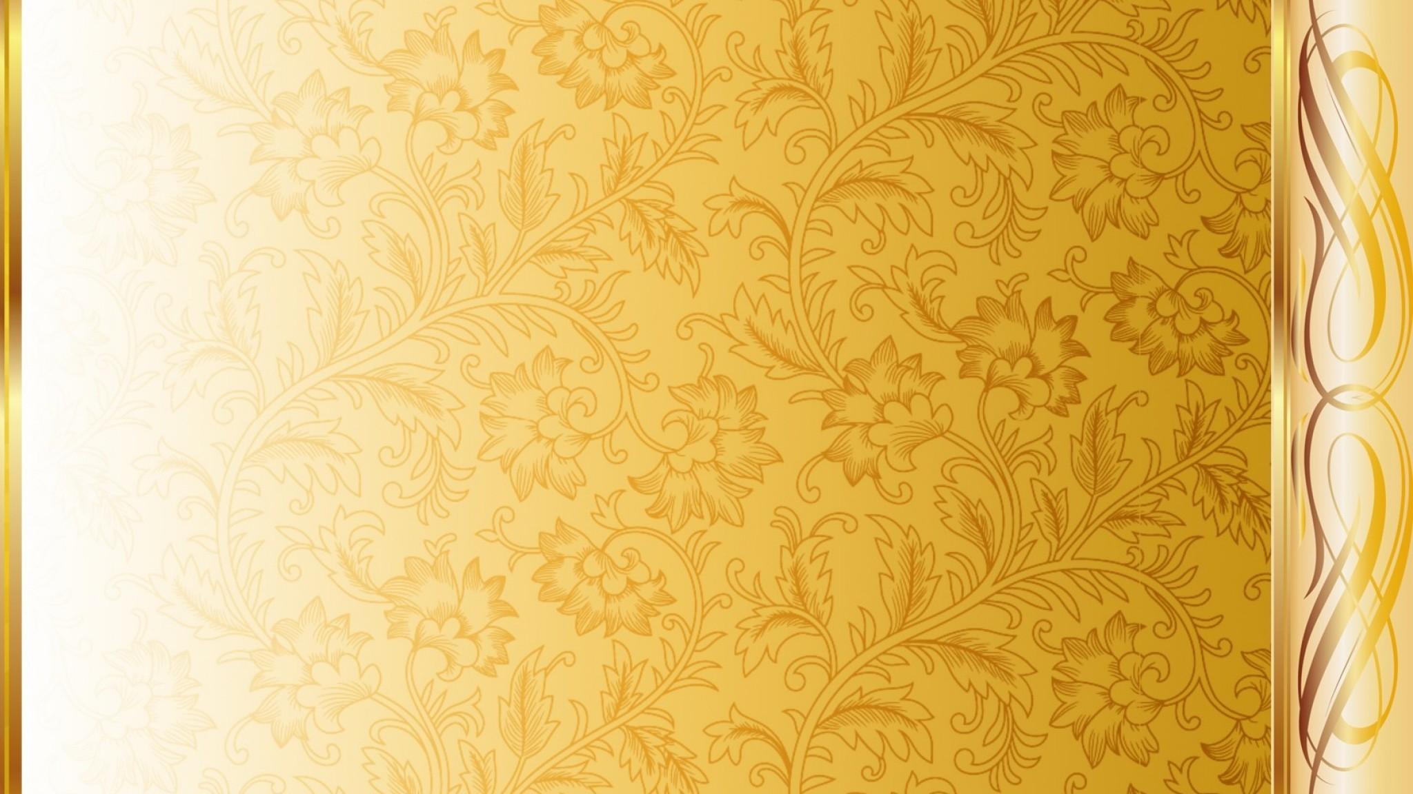 Gold Pattern Wide Wallpaper for Desktop px MB