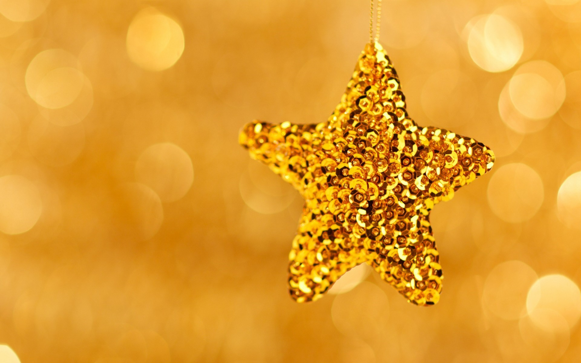 Christmas Star Gold New Year Holiday Bokeh