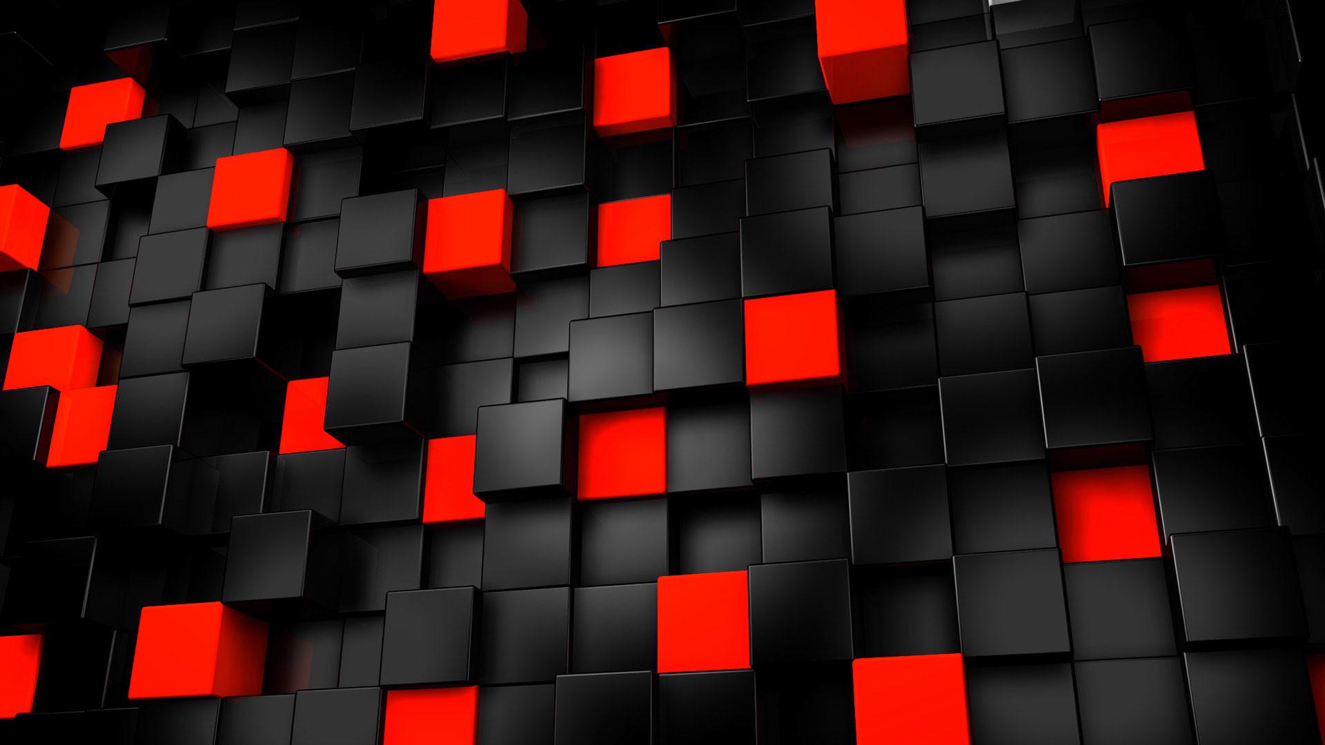 hd pics photos red and black technology blocks desktop background wallpaper