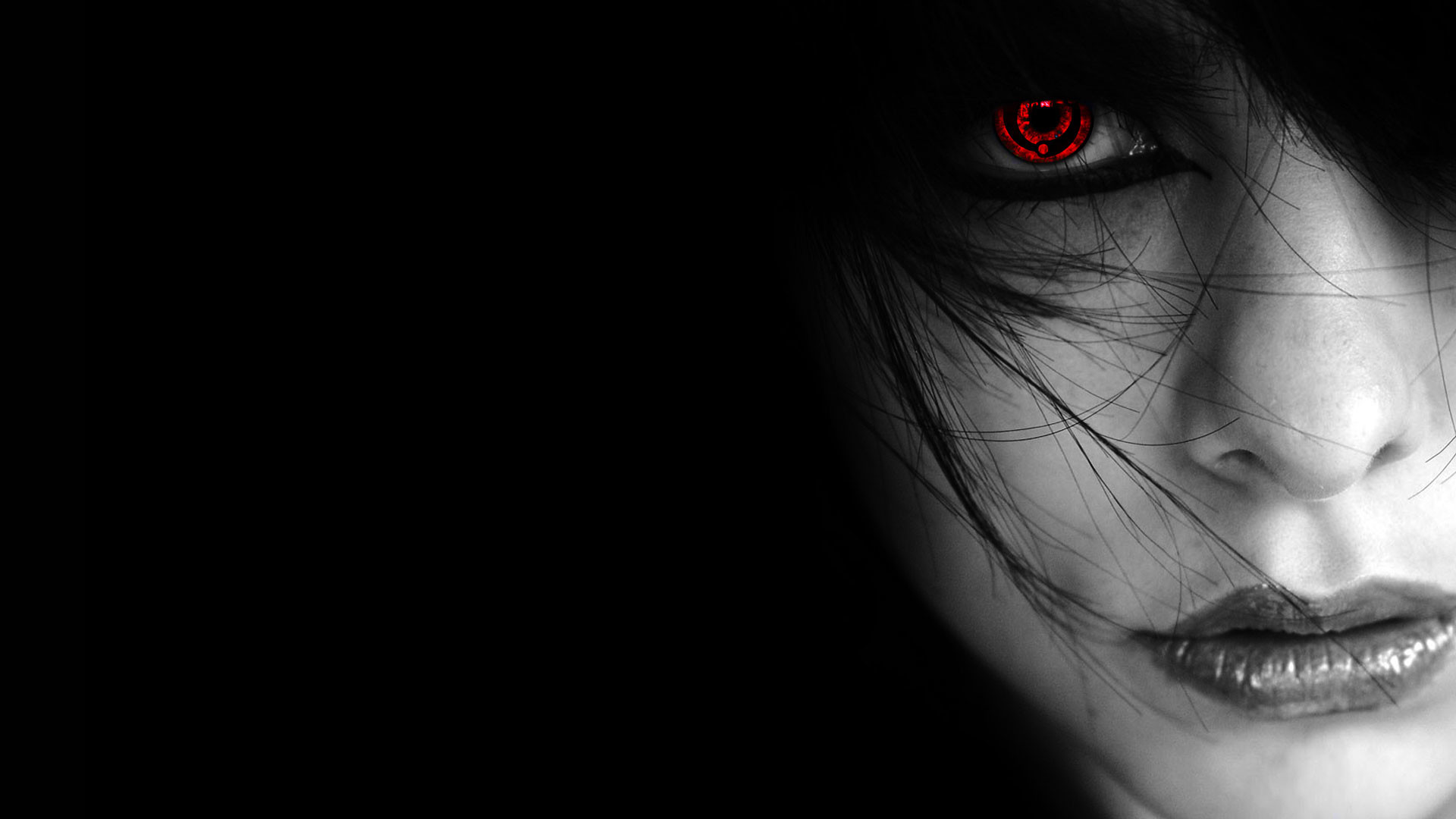 hd pics photos cute girl with red eye neon hd quality desktop background  wallpaper