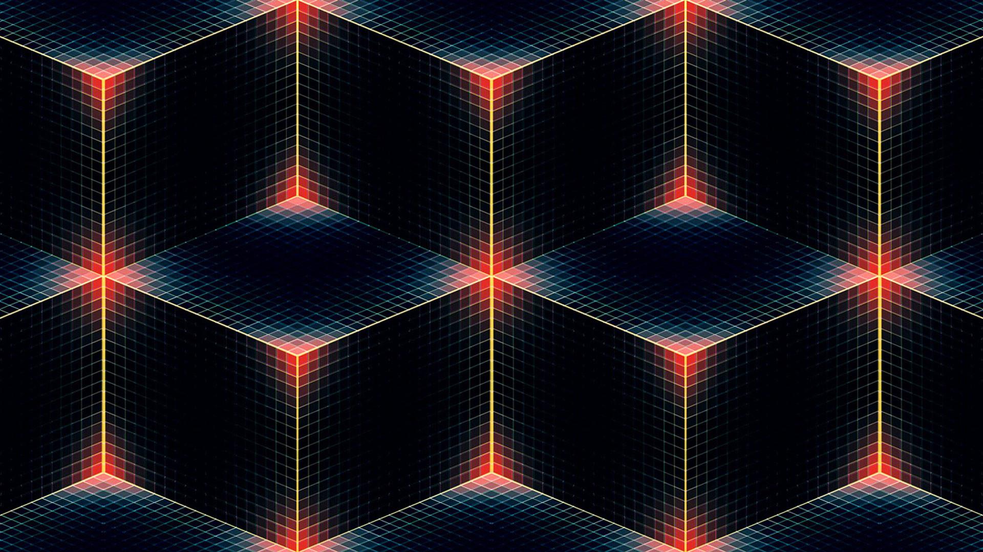 hd pics photos best 3d cubes red black digital technology hd quality desktop  background wallpaper
