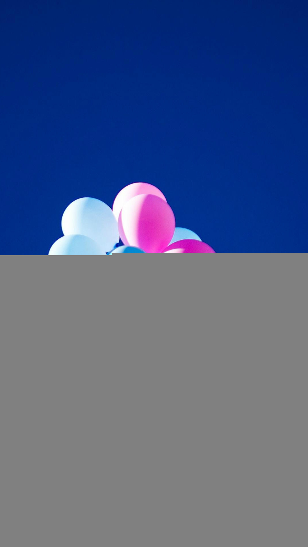 Flying Balloons In Blue Sky iPhone 8 wallpaper