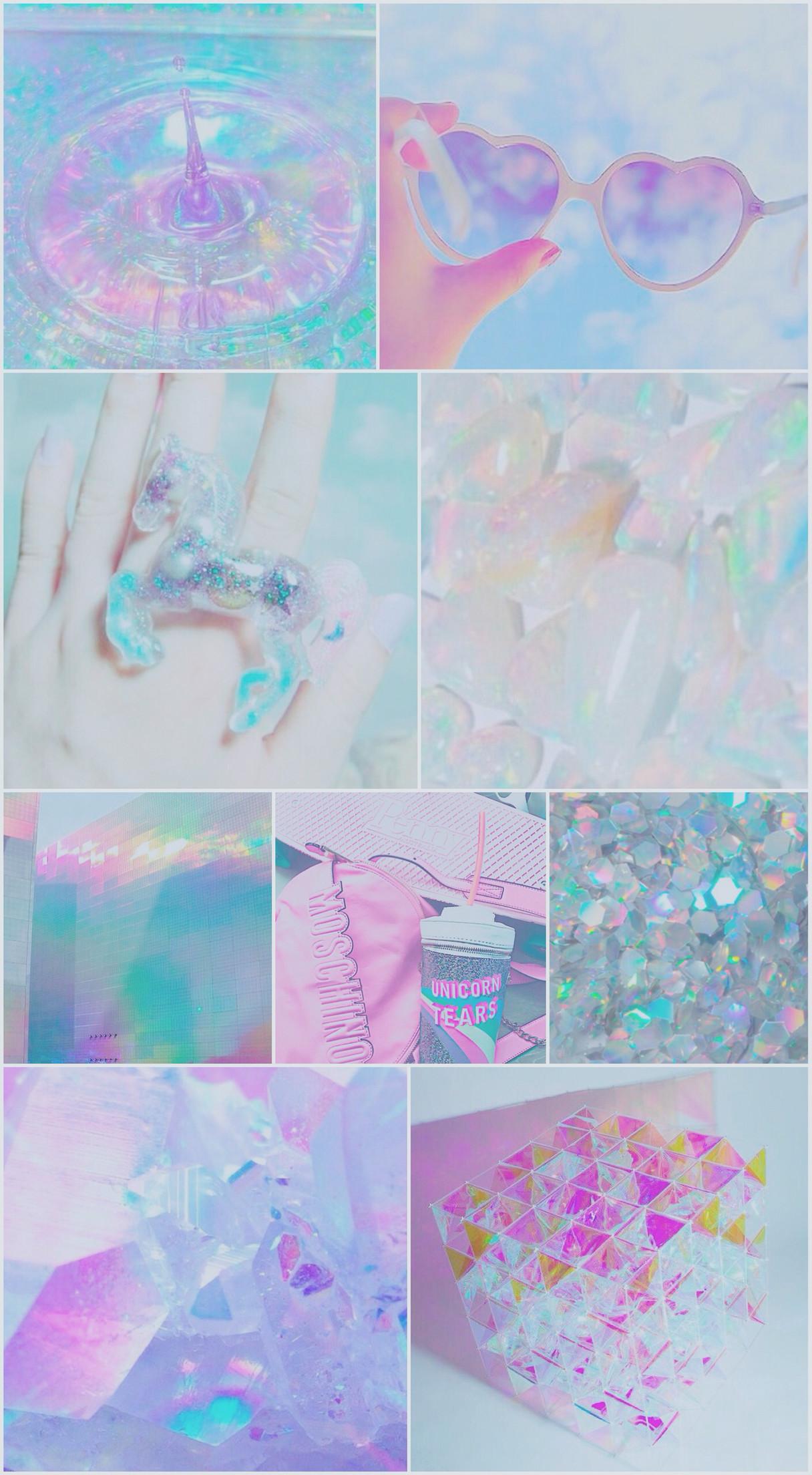 iridescent, wallpaper, background, iPhone, android, unicorn, blue, purple,