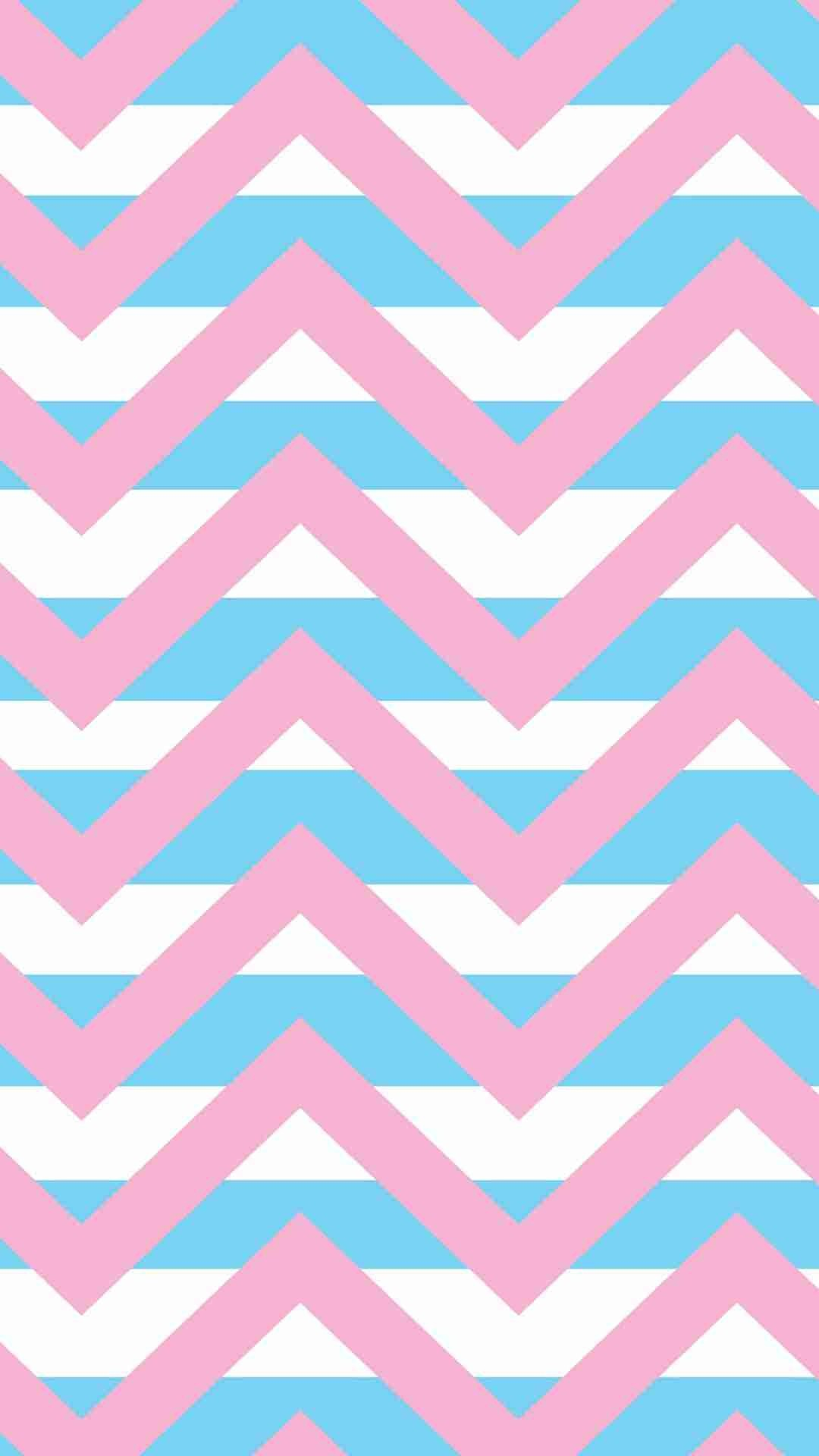 Blue And Pink Wallpaper Stripes