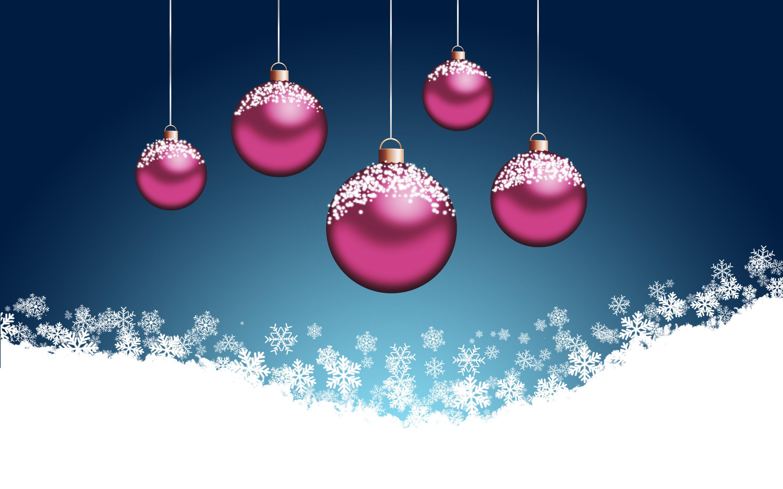 Pink Christmas Wallpaper HD