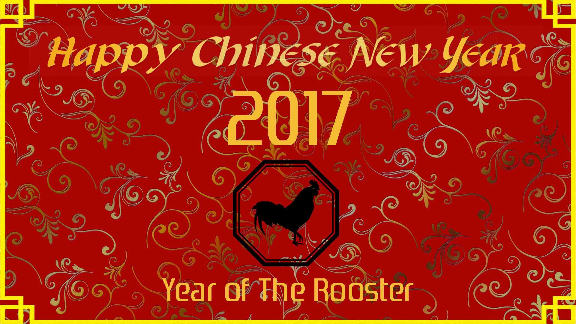 Chinese New Year 2017 Wallpaper – Year of The Rooster