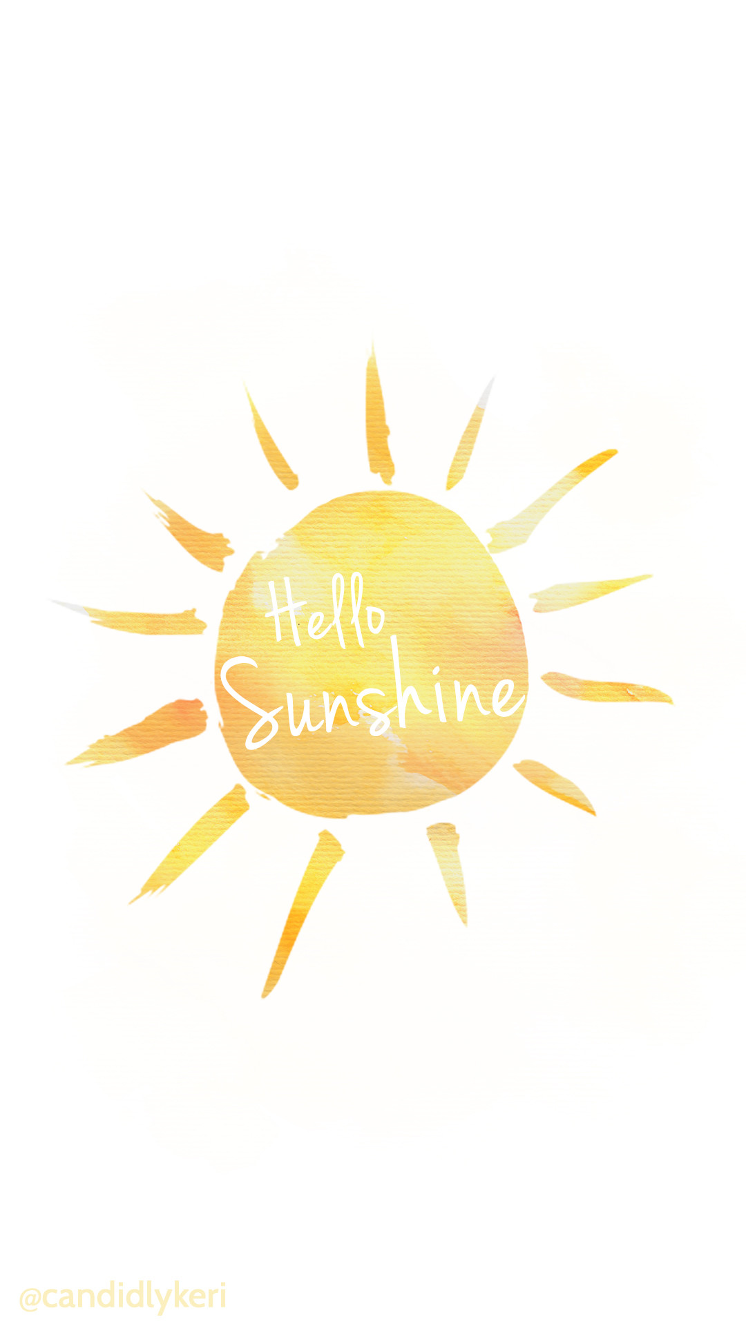 Hello sunshine yellow watercolor background wallpaper you can download for  free on the blog! For