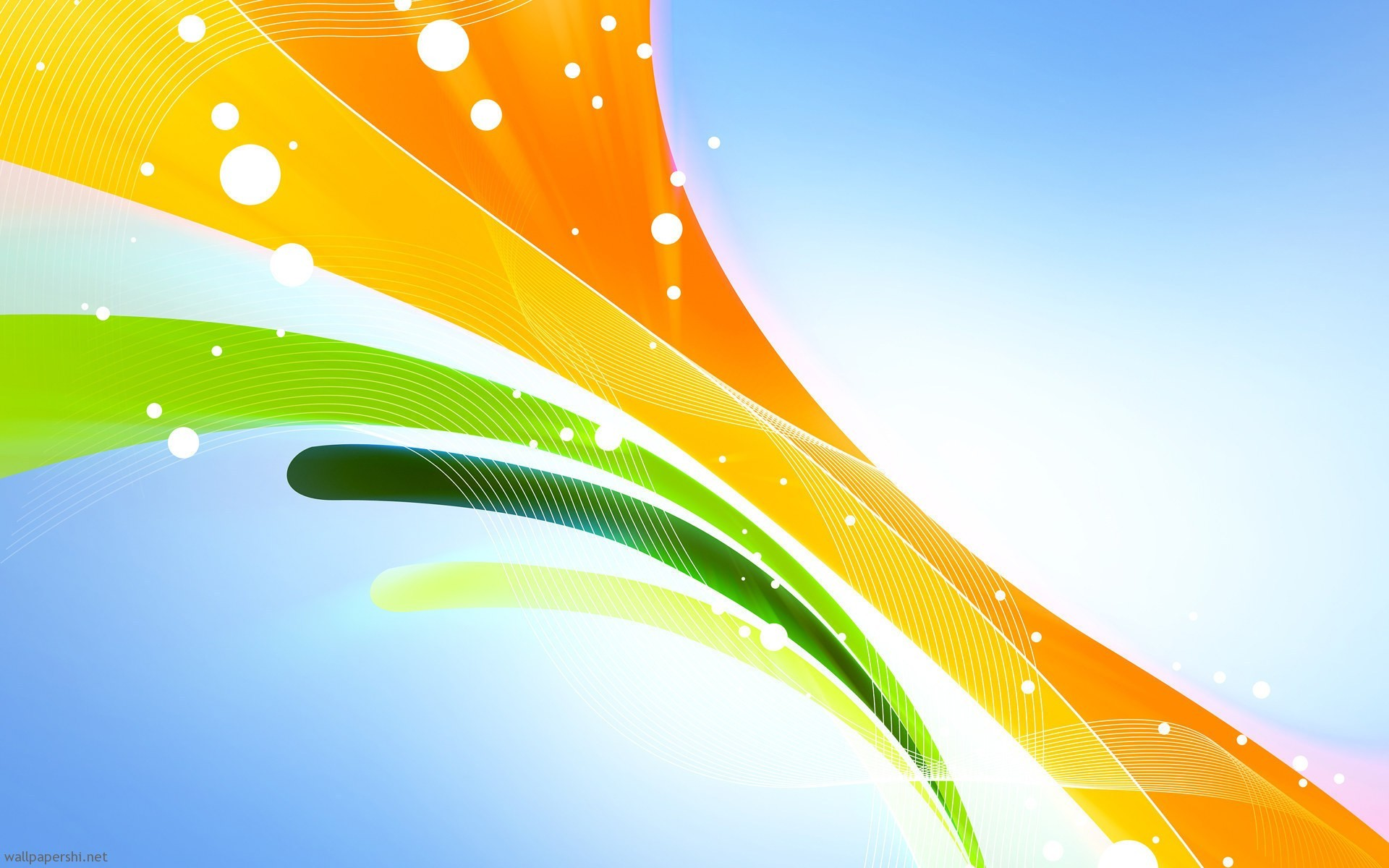 abstract lines green orange yellow