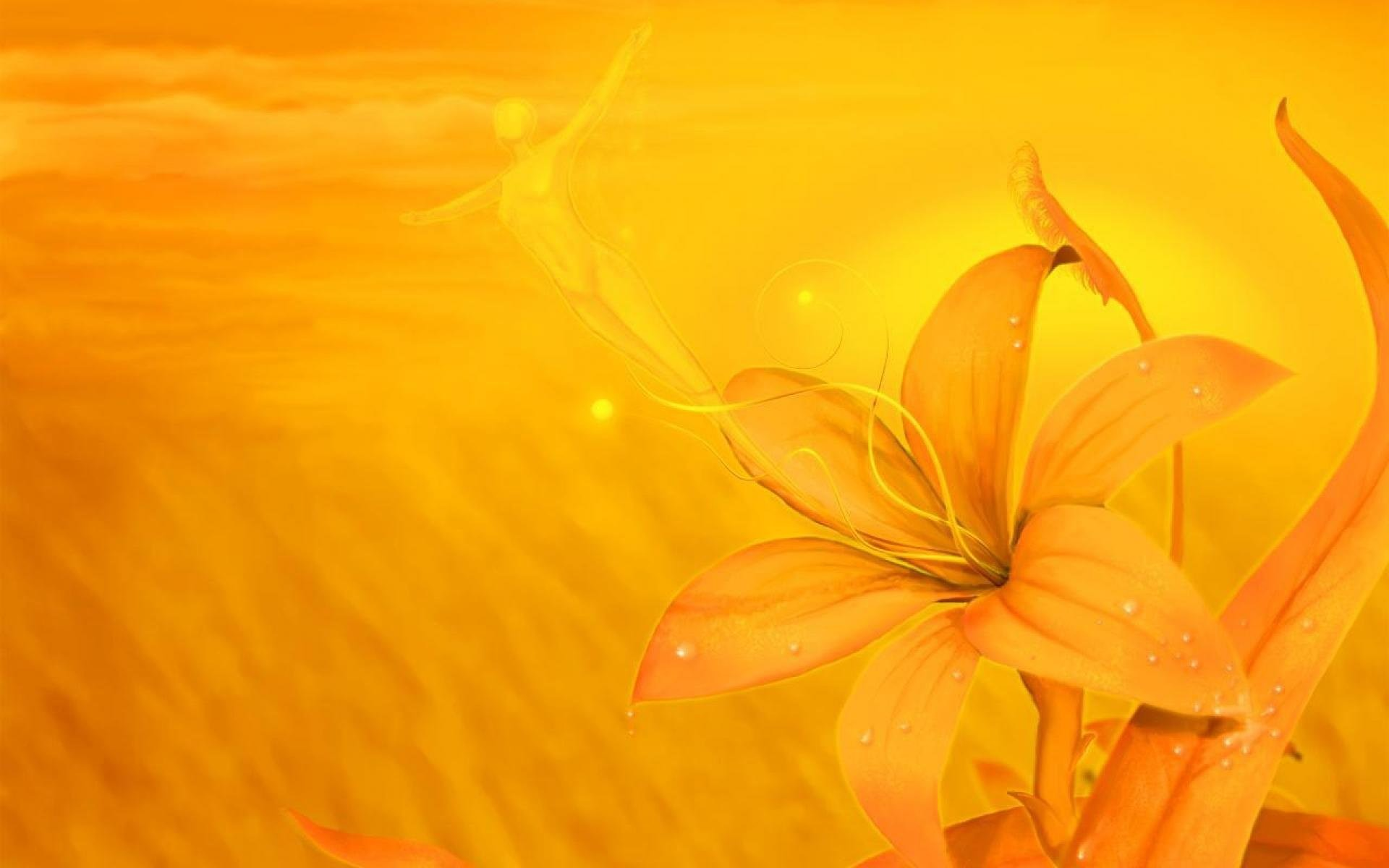 Yellow Flowers Background 838920