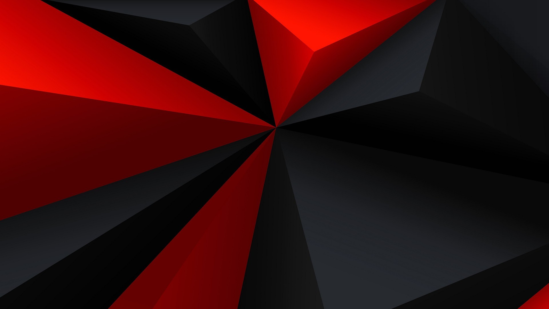 General digital art minimalism low poly geometry triangle red  black gray abstract