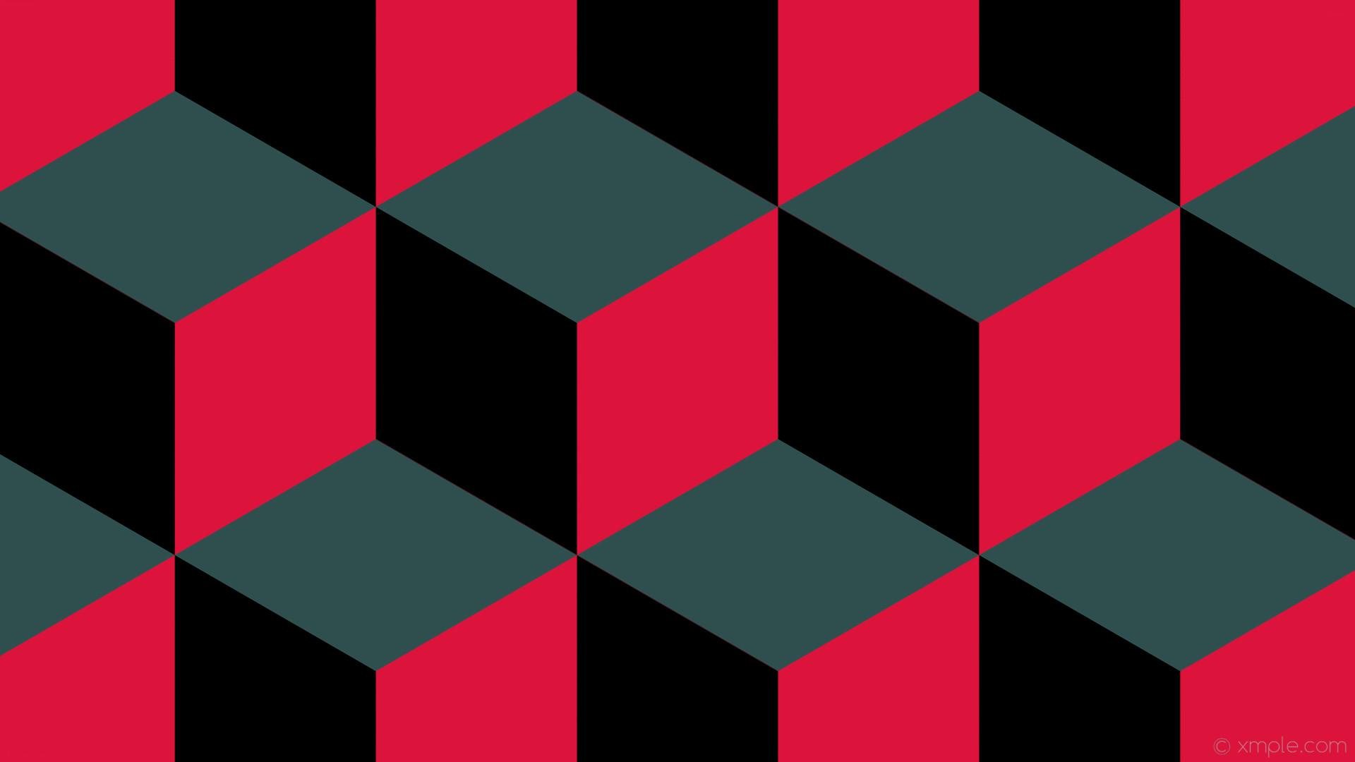 wallpaper 3d cubes grey red black crimson dark slate gray #dc143c #2f4f4f  #000000