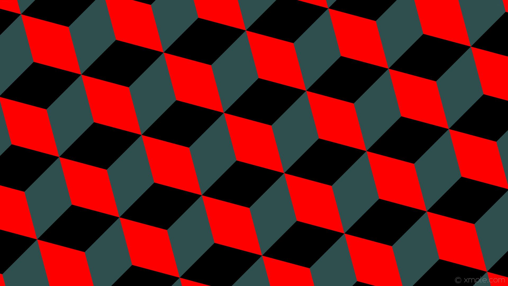 wallpaper grey 3d cubes red black dark slate gray #ff0000 #2f4f4f #000000  315