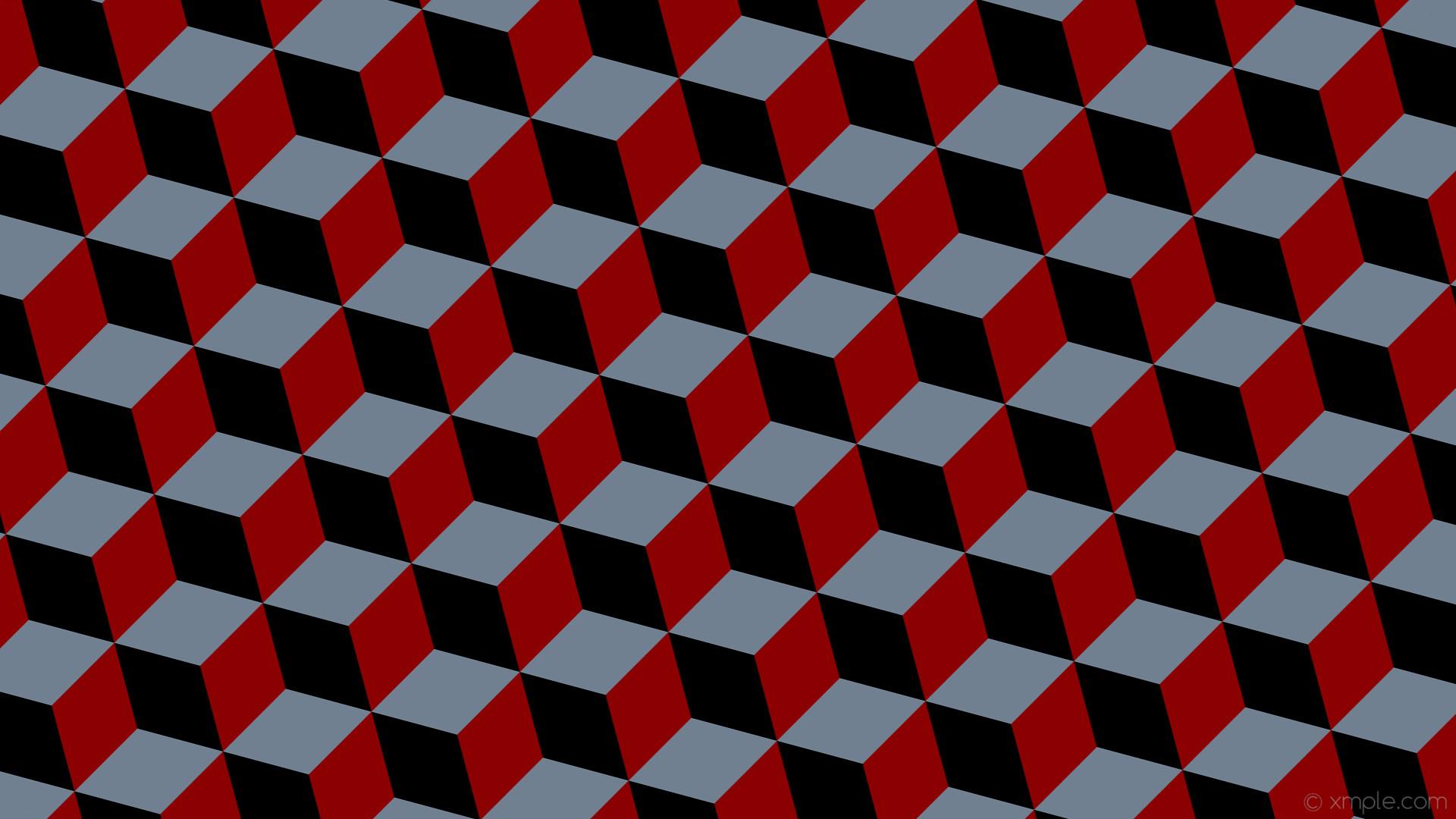 wallpaper grey 3d cubes red black dark red slate gray #8b0000 #708090  #000000