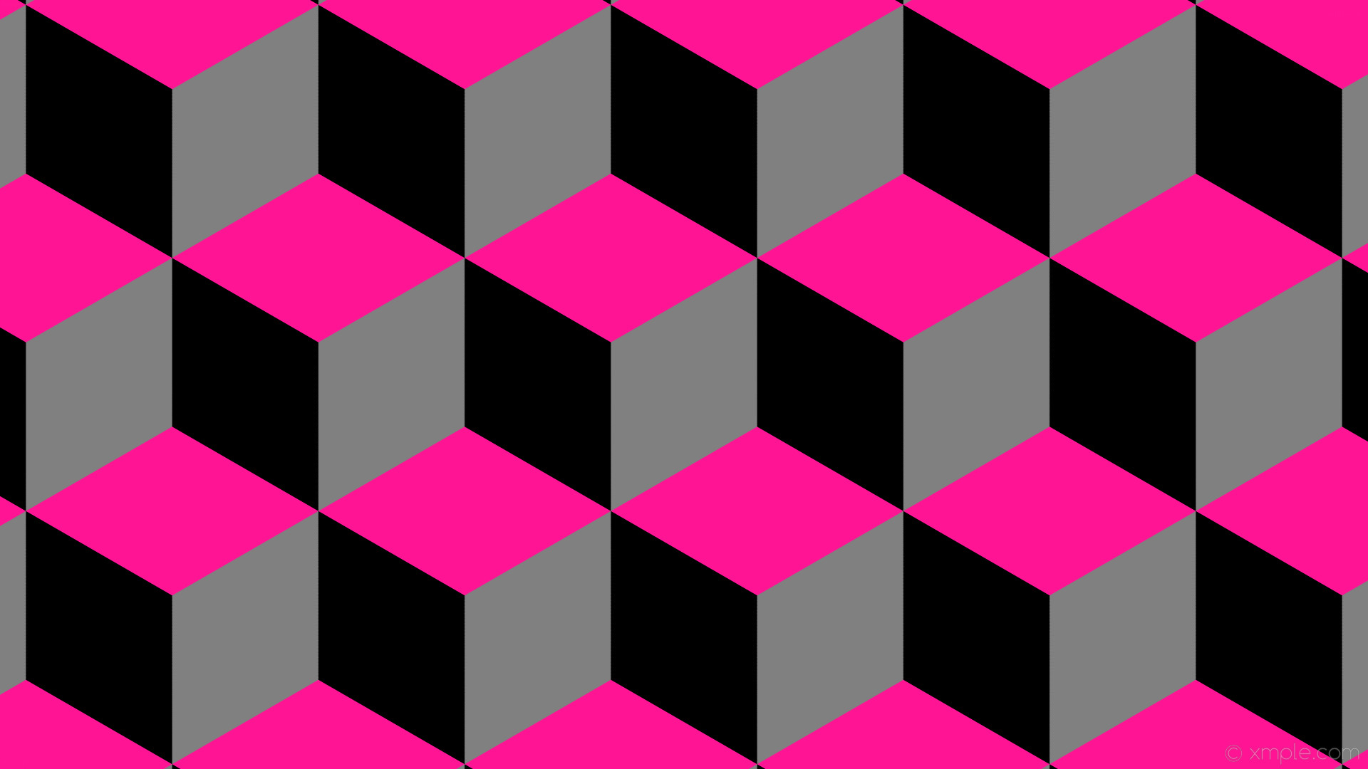wallpaper pink 3d cubes black grey gray deep pink #808080 #ff1493 #000000  240