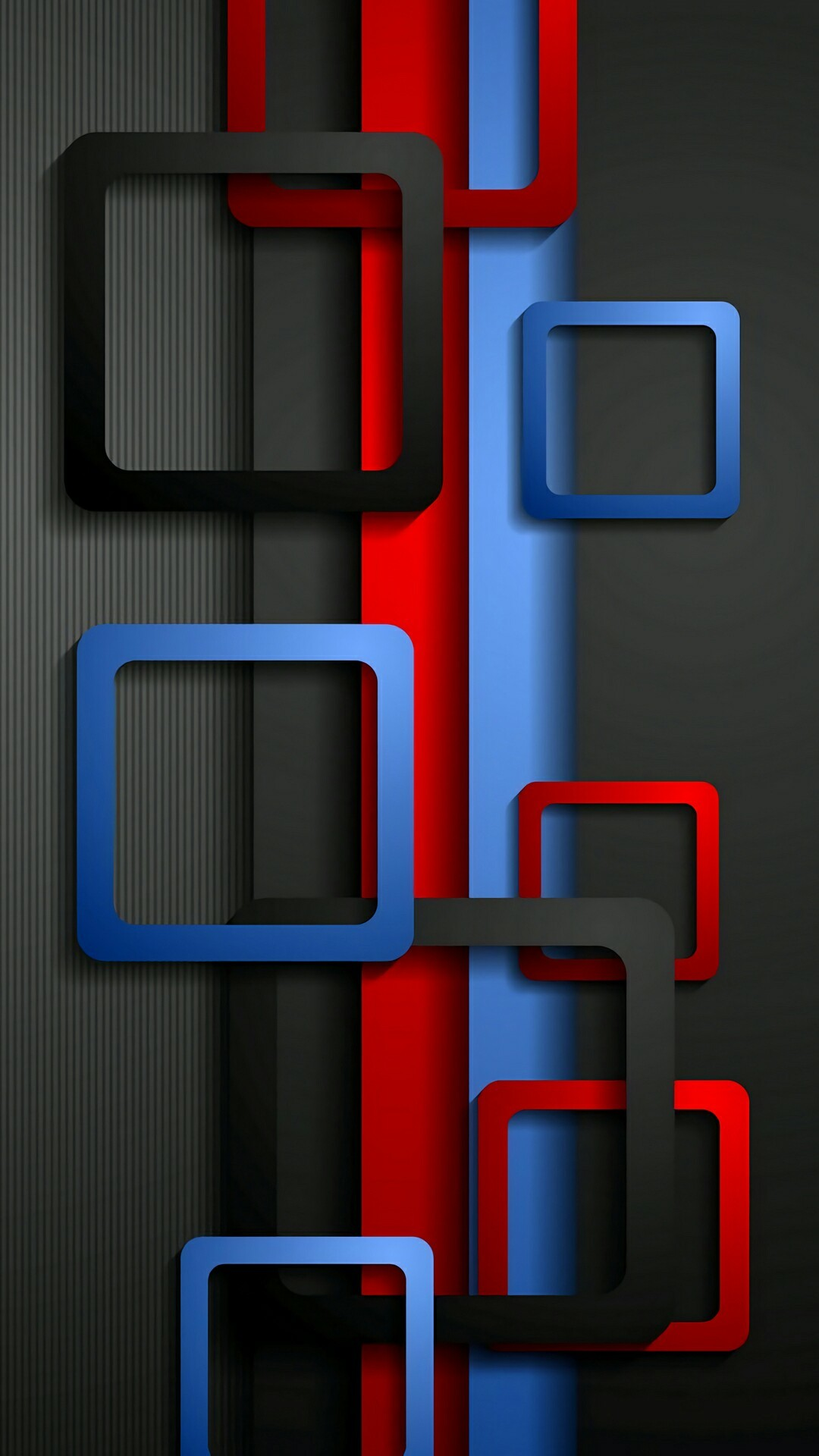 Wallpaper Full HD for Mobile with Red Blue and Black Box – HD Wallpapers  for Free