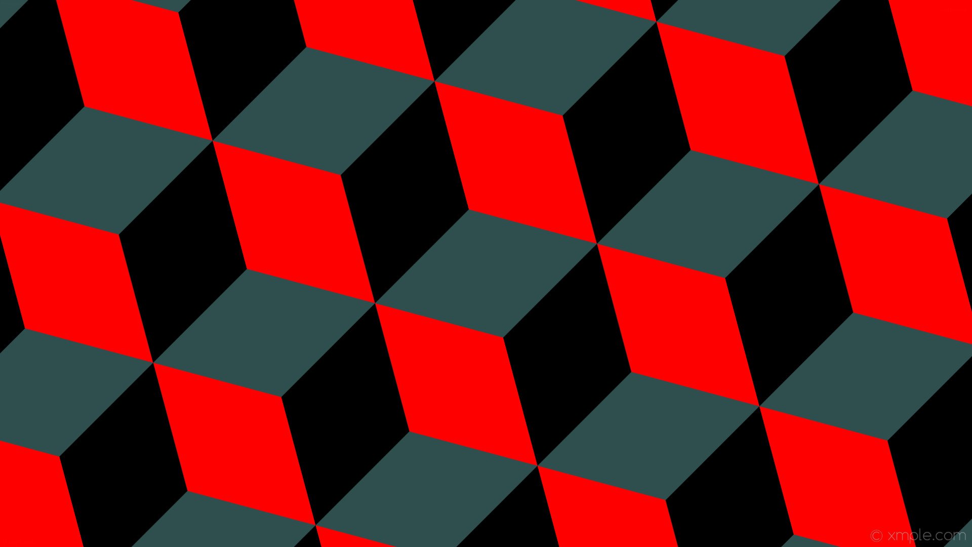 wallpaper red 3d cubes grey black dark slate gray #2f4f4f #ff0000 #000000 15