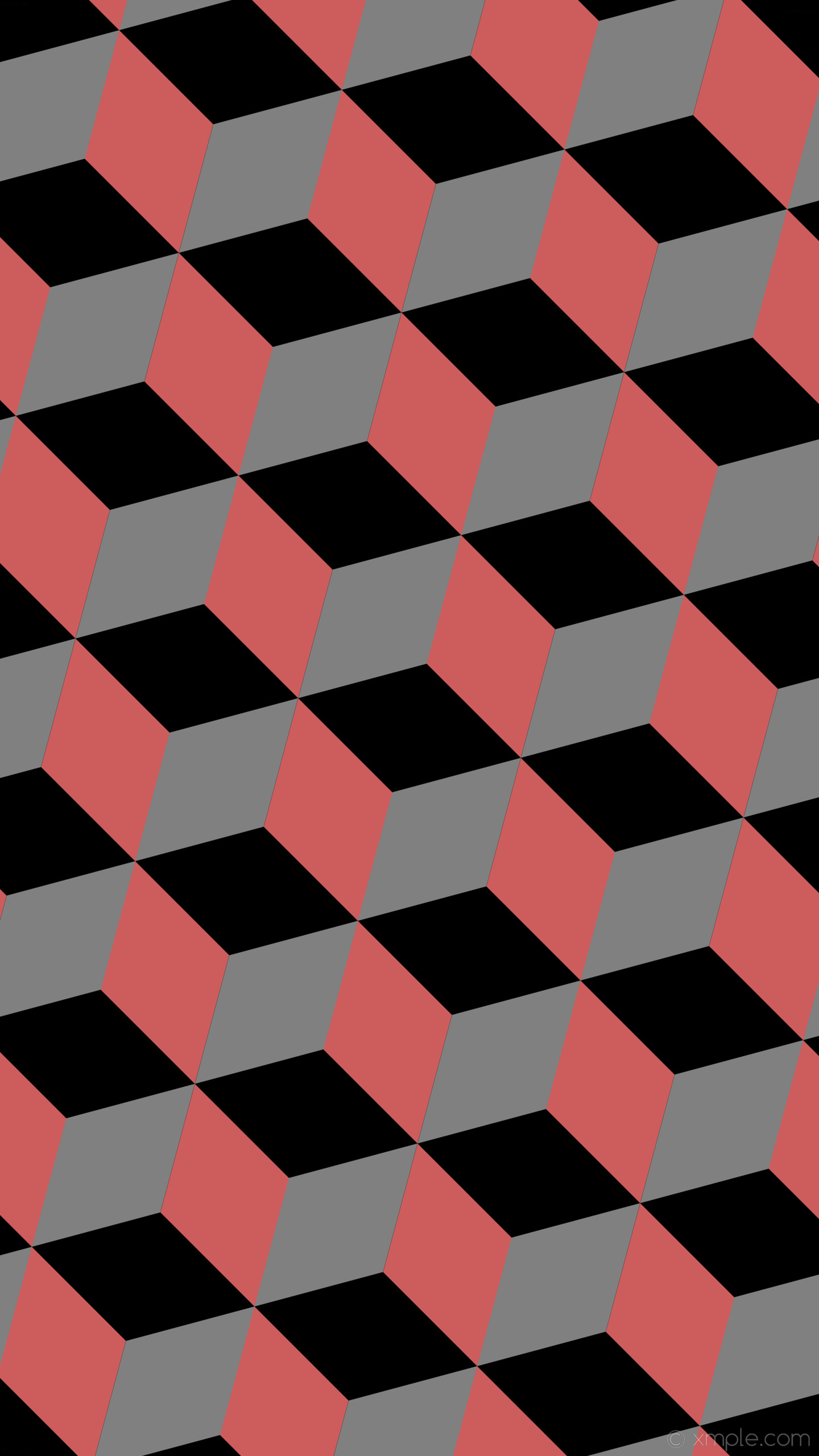 wallpaper grey red 3d cubes black indian red gray #000000 #cd5c5c #808080  165