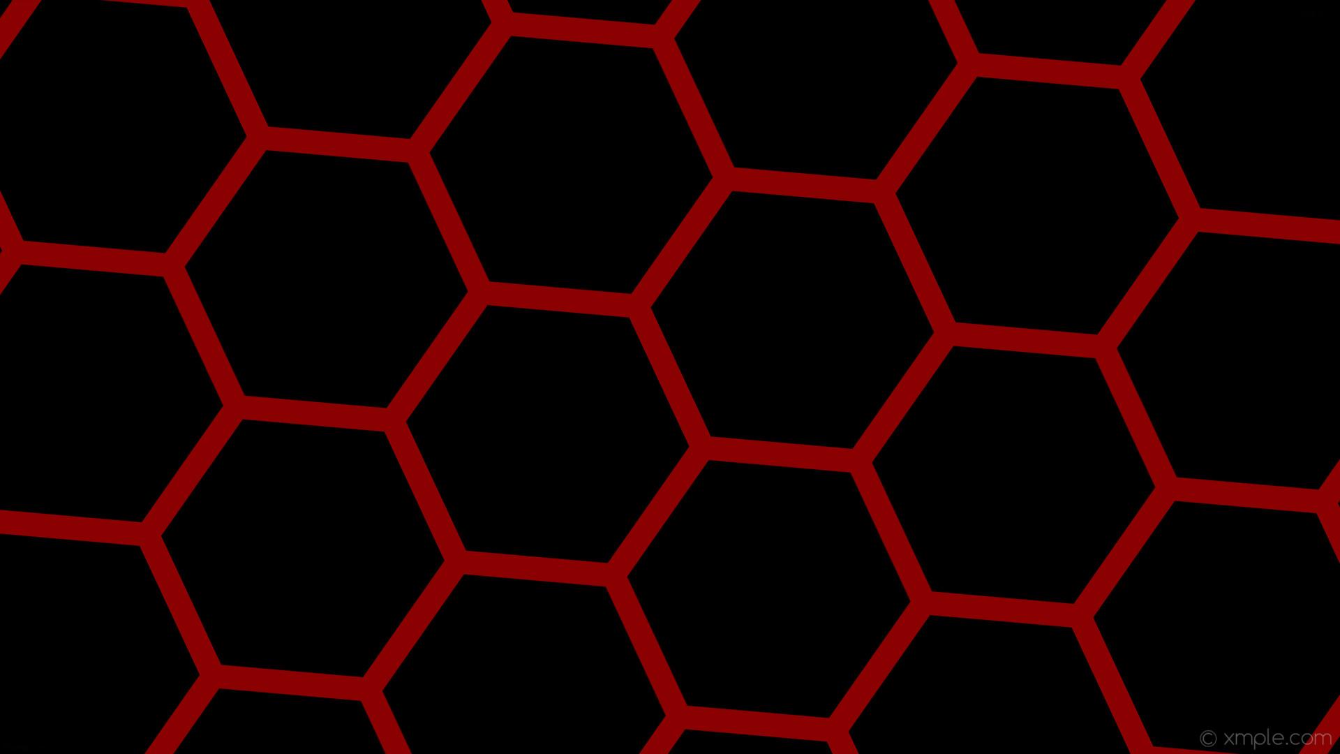 wallpaper beehive honeycomb black red hexagon dark red #000000 #8b0000  diagonal 25° 34px