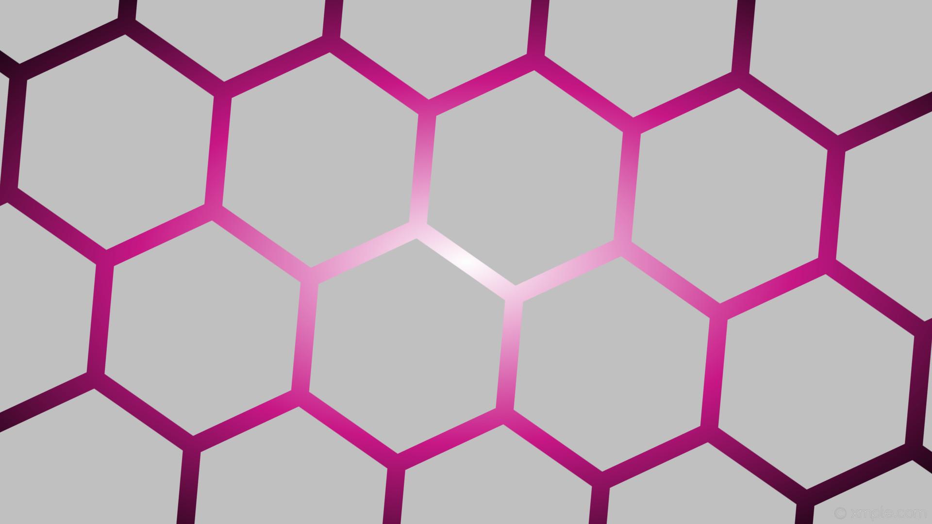wallpaper pink glow black grey white gradient hexagon silver medium violet  red #c0c0c0 #ffffff