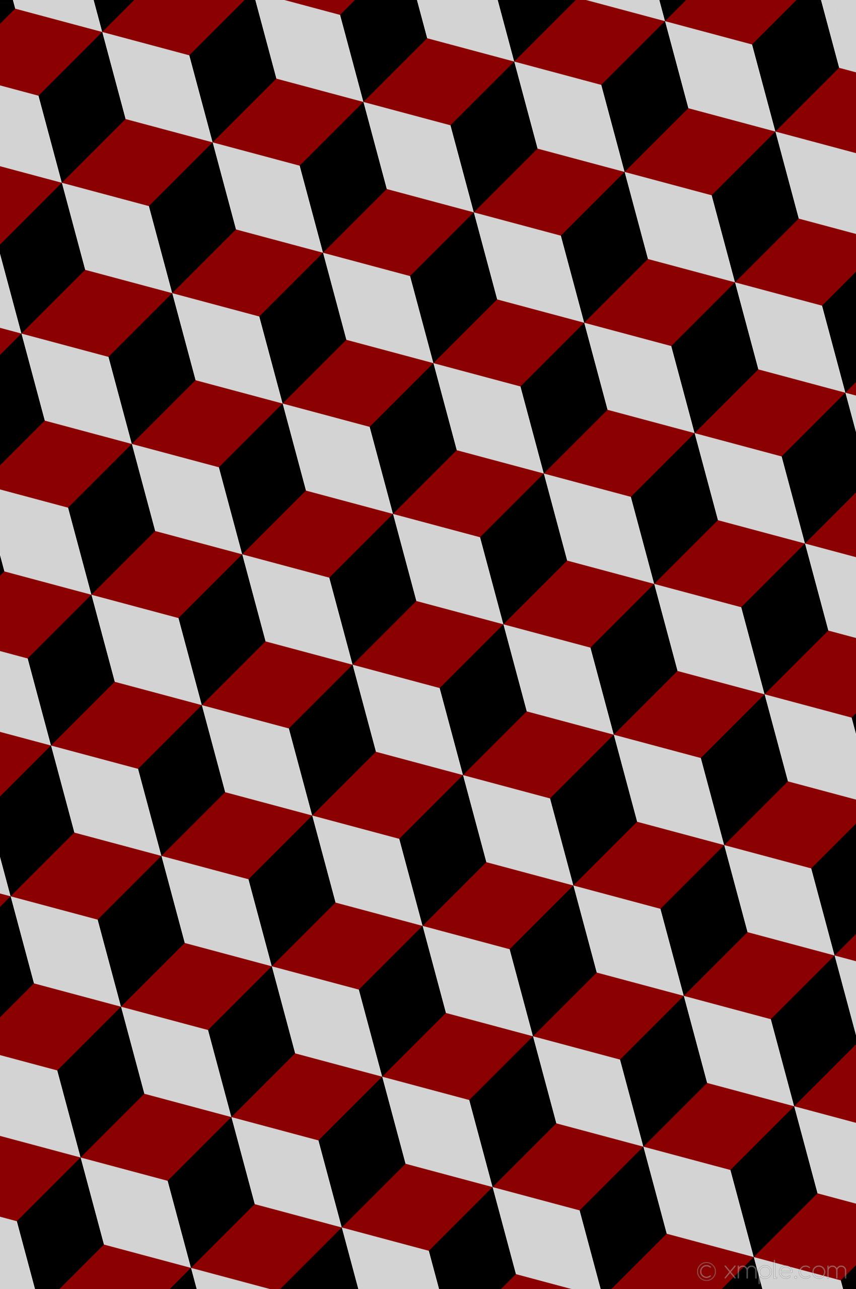 wallpaper grey 3d cubes red black dark red light gray #8b0000 #d3d3d3  #000000