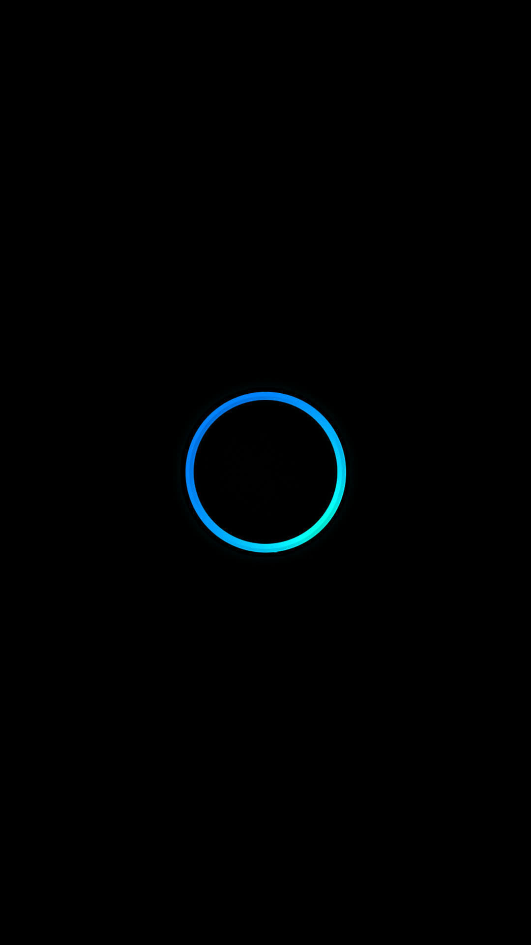 Turquoise Blue Circle Minimal Android Wallpaper …