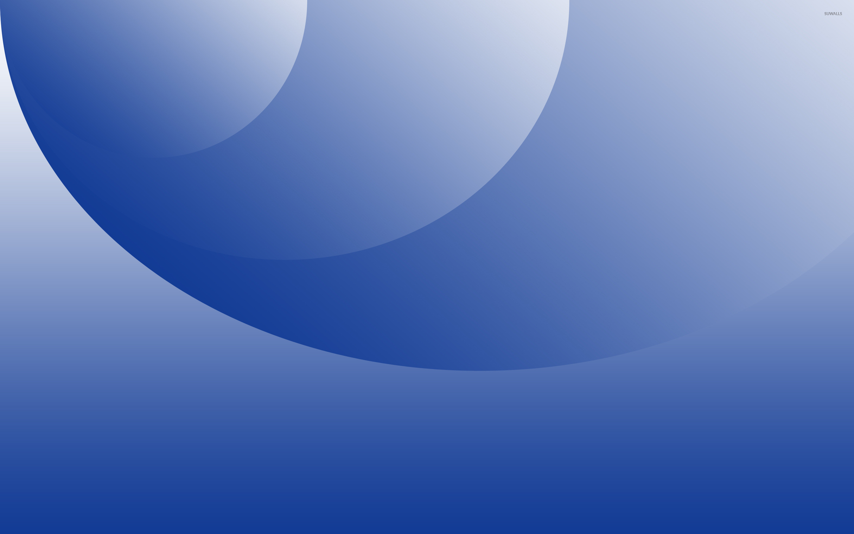 Blue circles and curves wallpaper