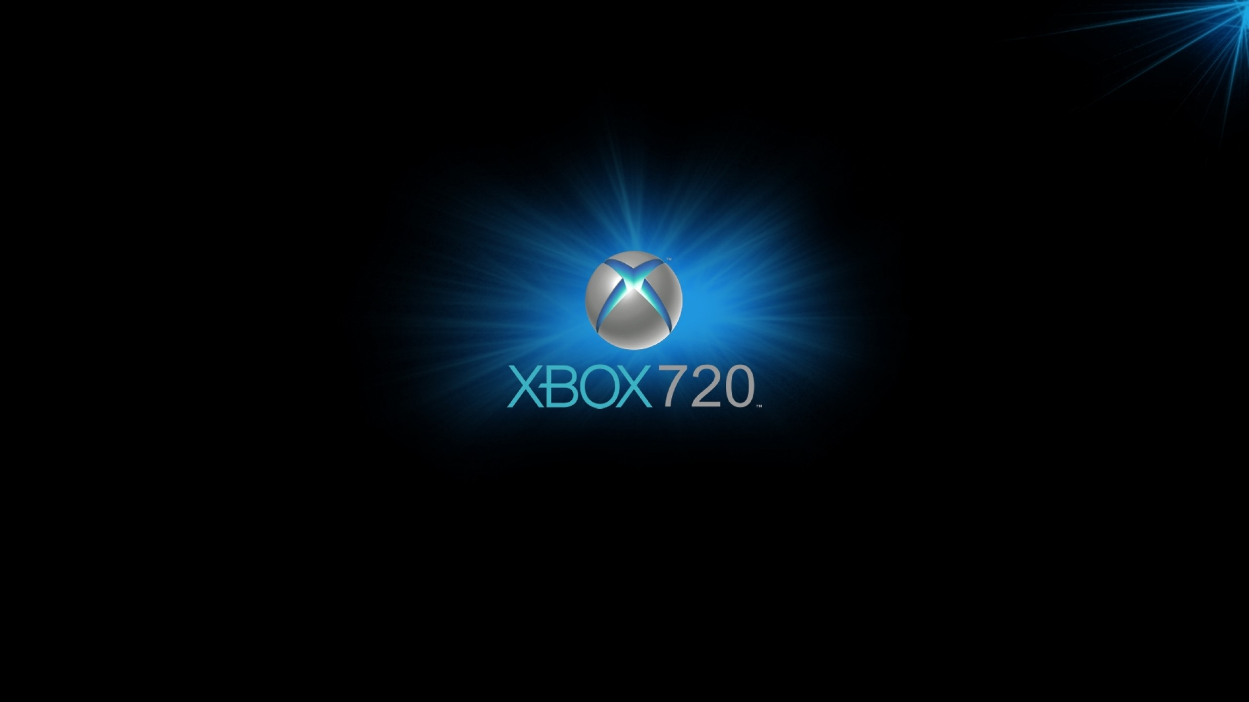 Wallpaper xbox, game console, blue, circle, black