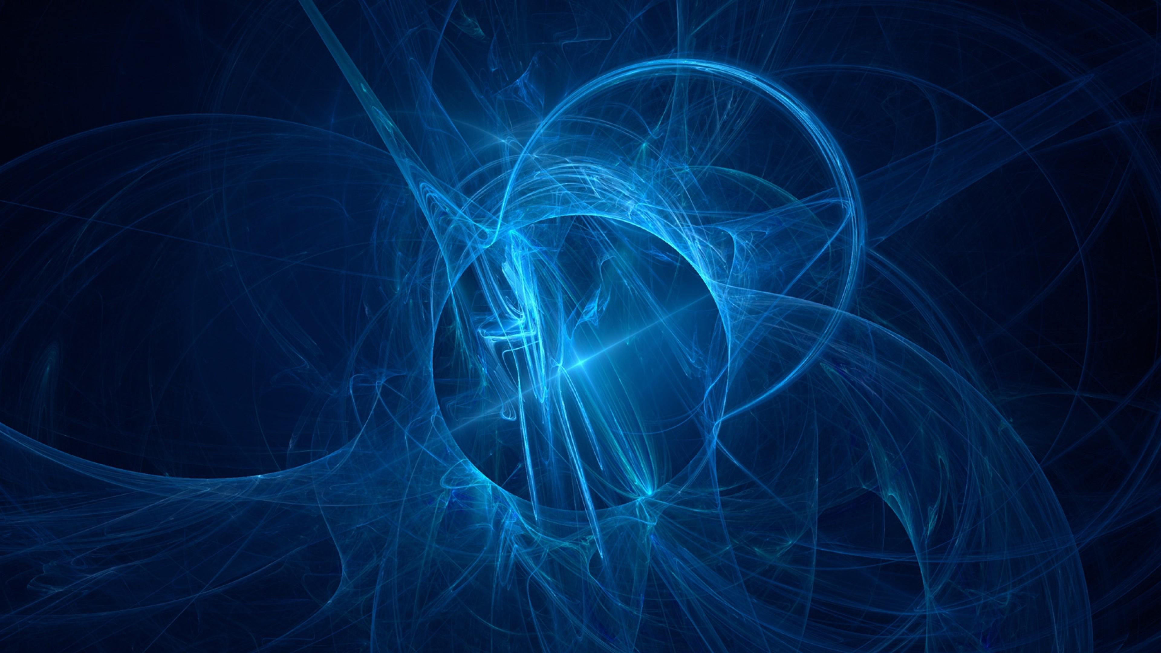 Wallpaper blue, black, circles, lines