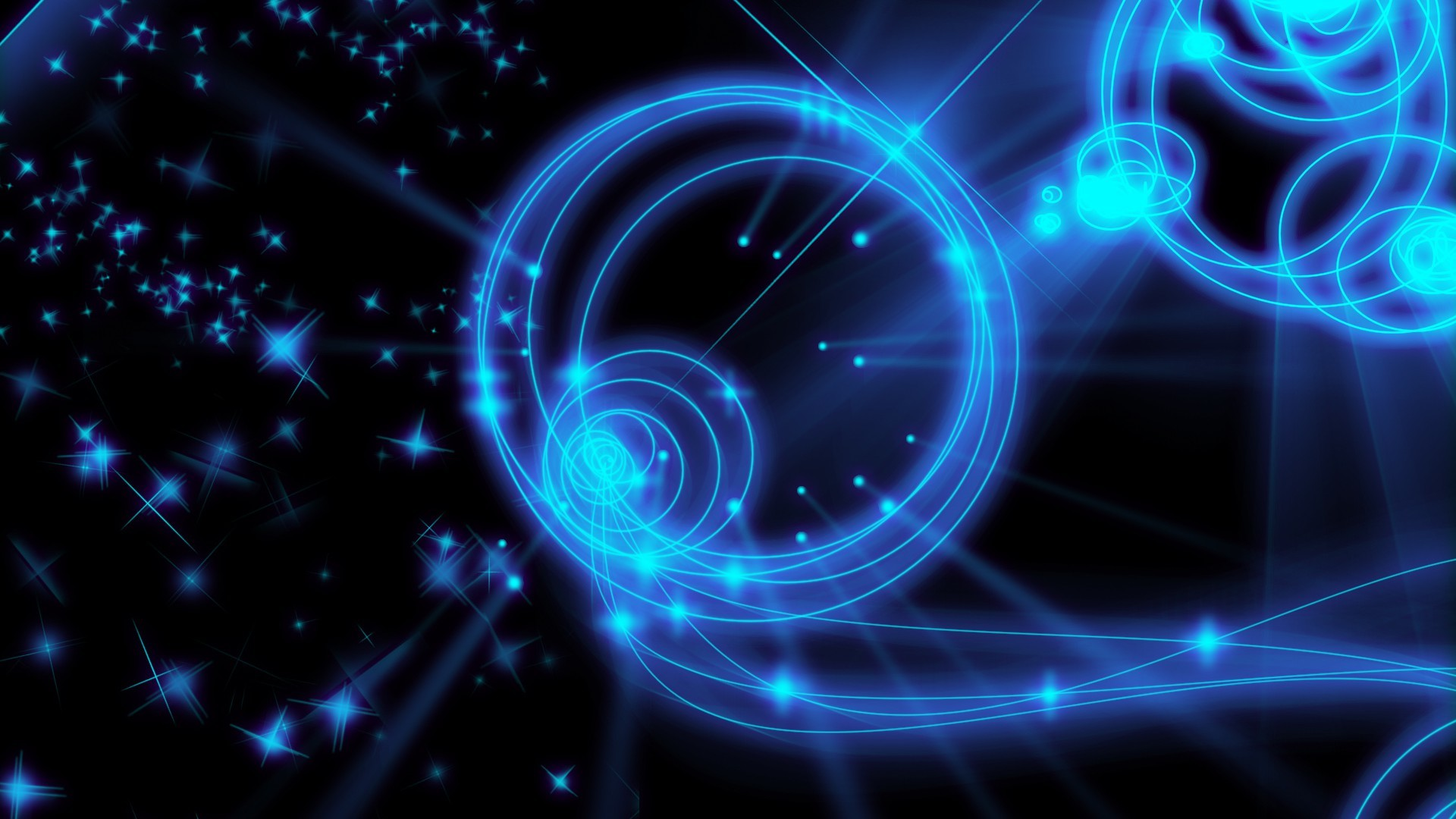 blue-neon-lights-abstract-black-blue-circle-cool-