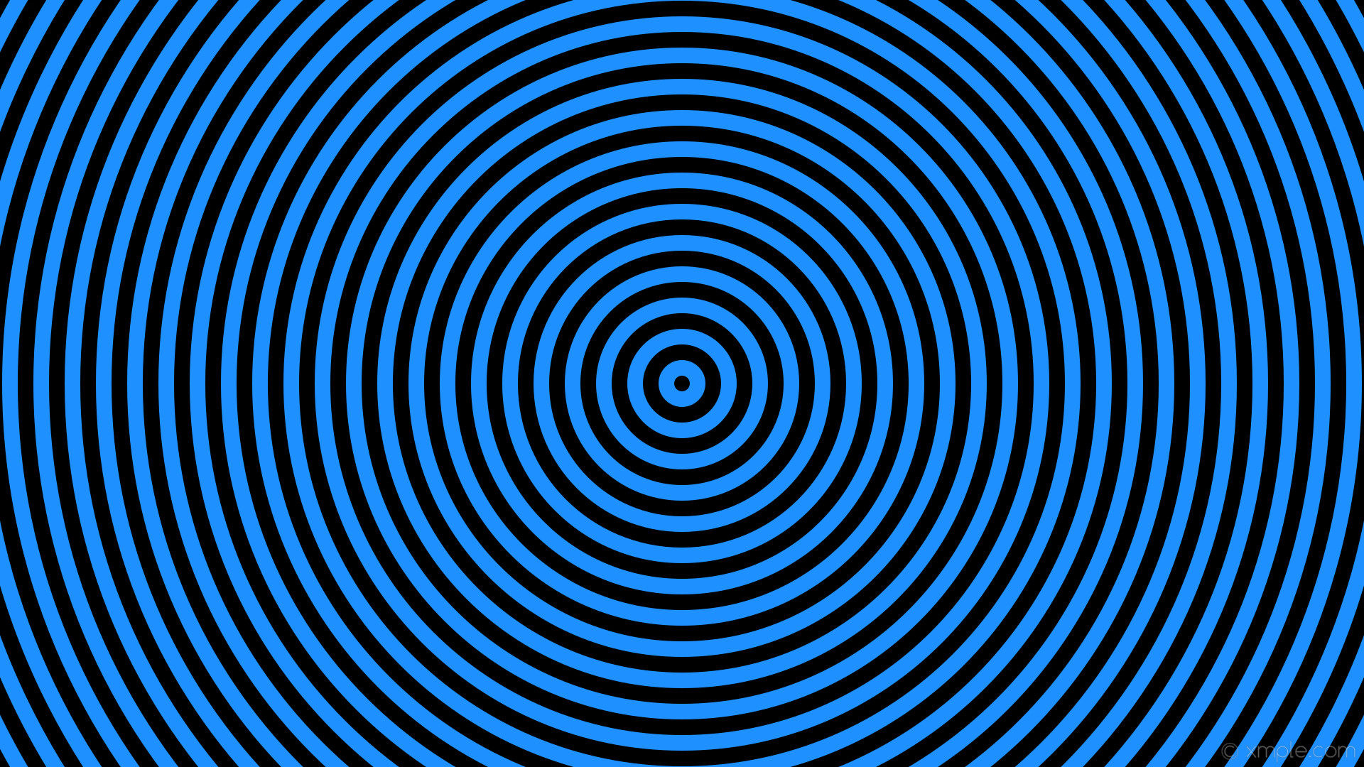 wallpaper blue black circles concentric rings dodger blue #1e90ff #000000  22px 50% 50