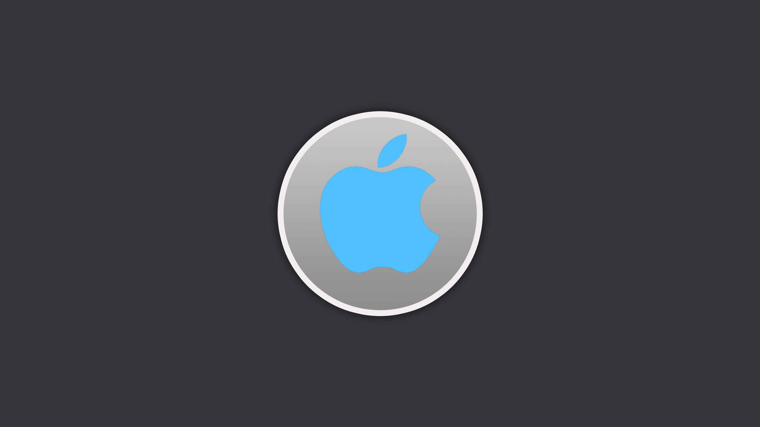 Apple Circle Wallpaper Blue by howiedi2 Apple Circle Wallpaper Blue by  howiedi2