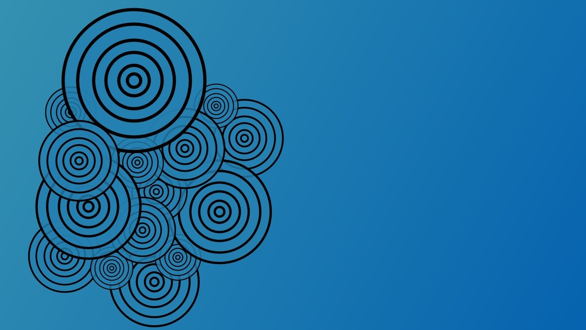 Free Vector Download Circle Blue HD Art Wallpapers Widescreen for Desktop
