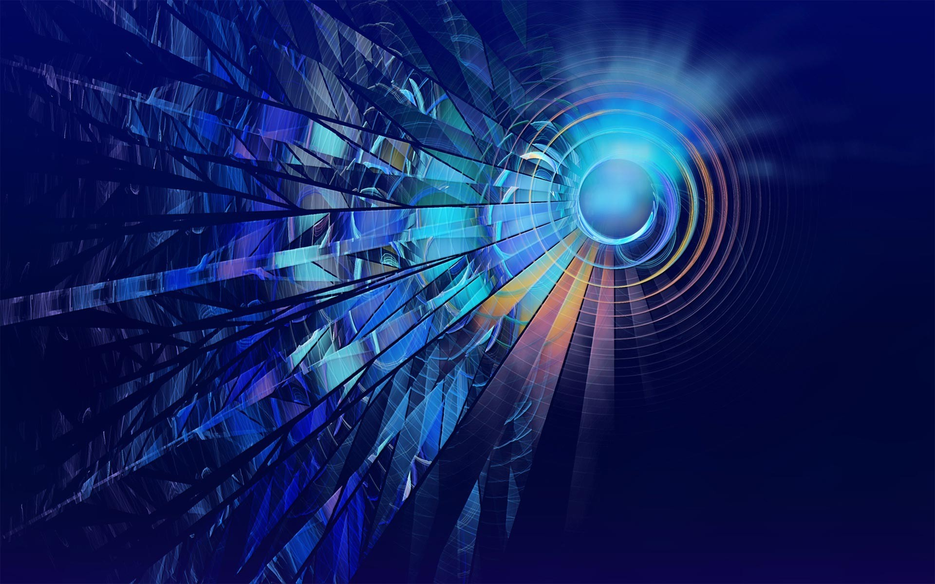 digital Art, Abstract, CGI, Blue, Circle, Lines, Glowing Wallpapers HD /  Desktop and Mobile Backgrounds