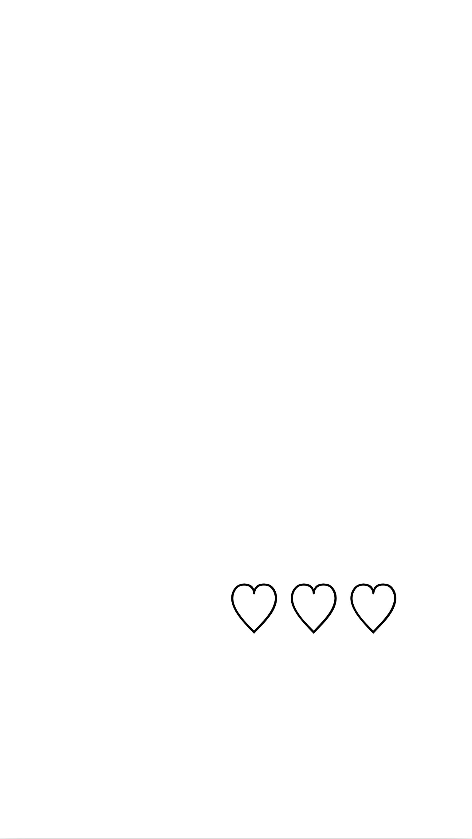 Simple white background with black hearts iphone wallpaper/homescreen