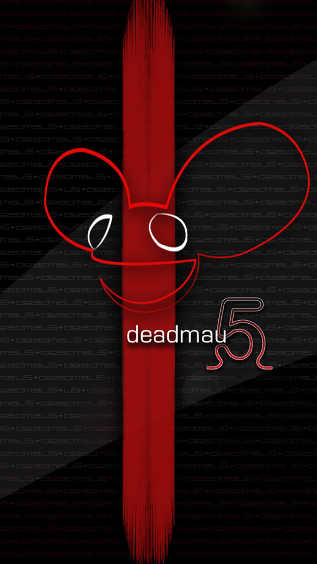 Deadmau5 Red Stripe HD Wallpaper iPhone 6 plus