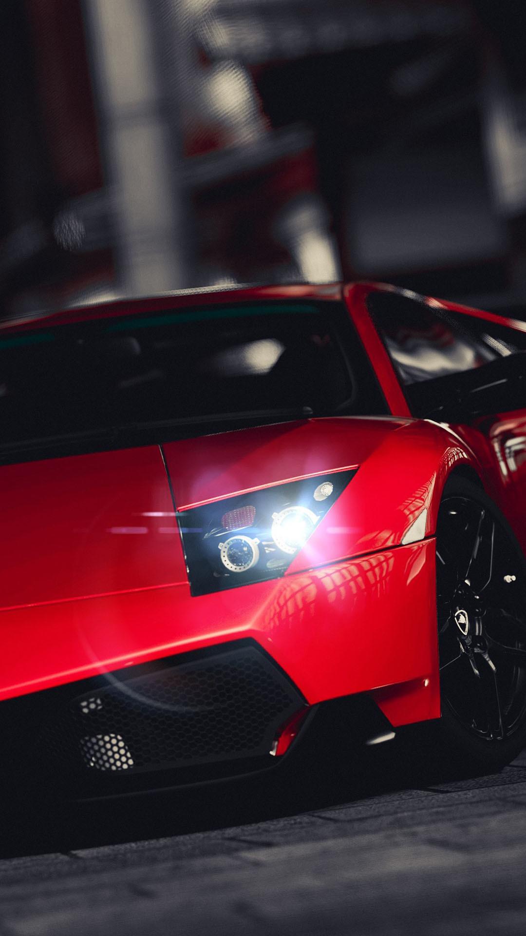 Lamborghini Veneno Bright Red iPhone 6 Plus HD Wallpaper …