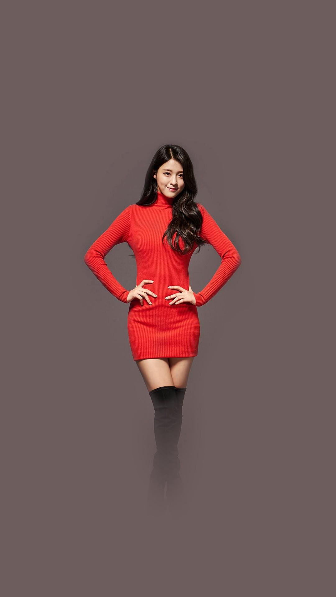 Seolhyun Aoa Red Christmas Cute Music #iPhone #6 #plus #wallpaper