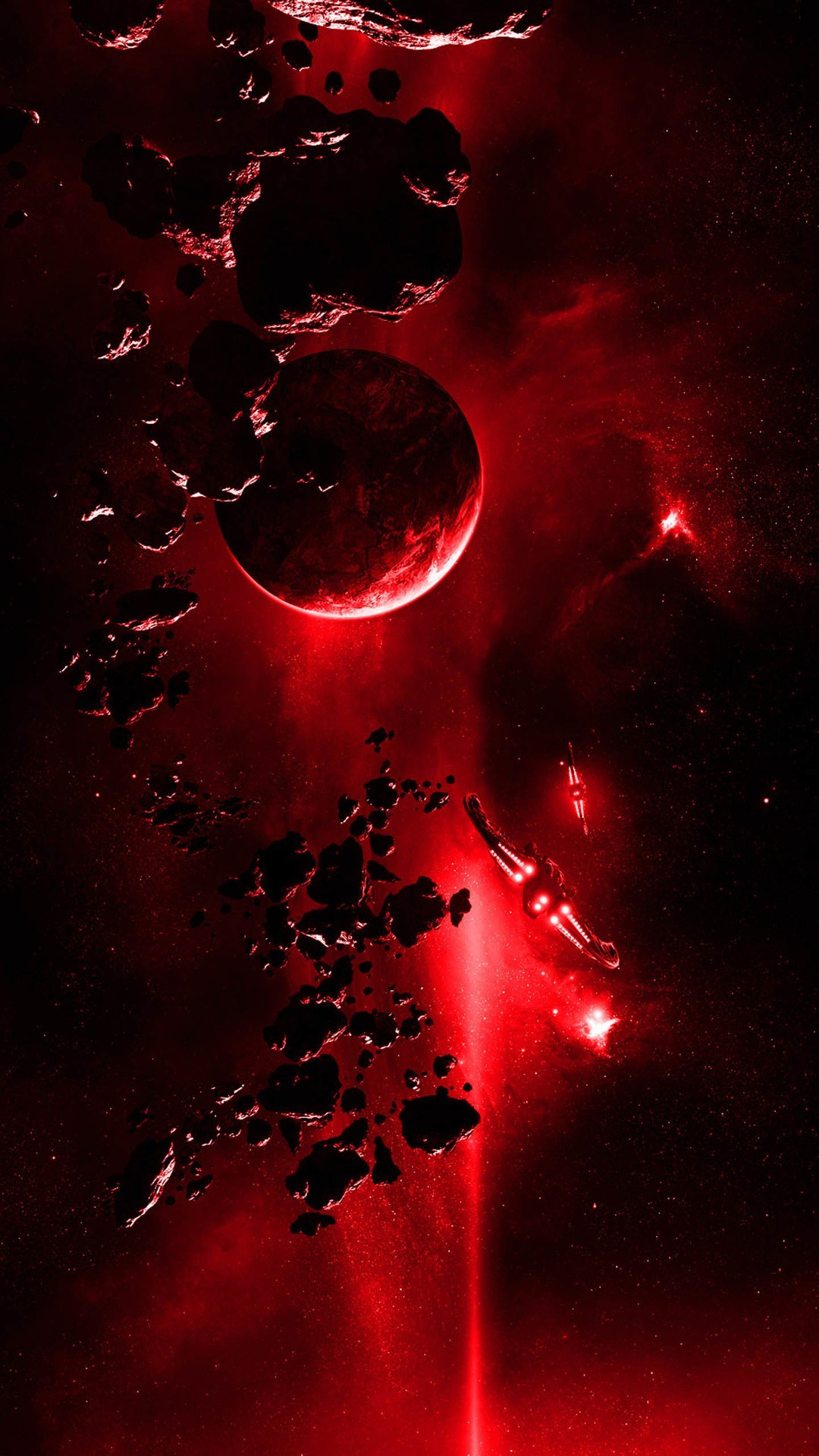 Red Light From Space #iPhone #6 #plus #wallpaper